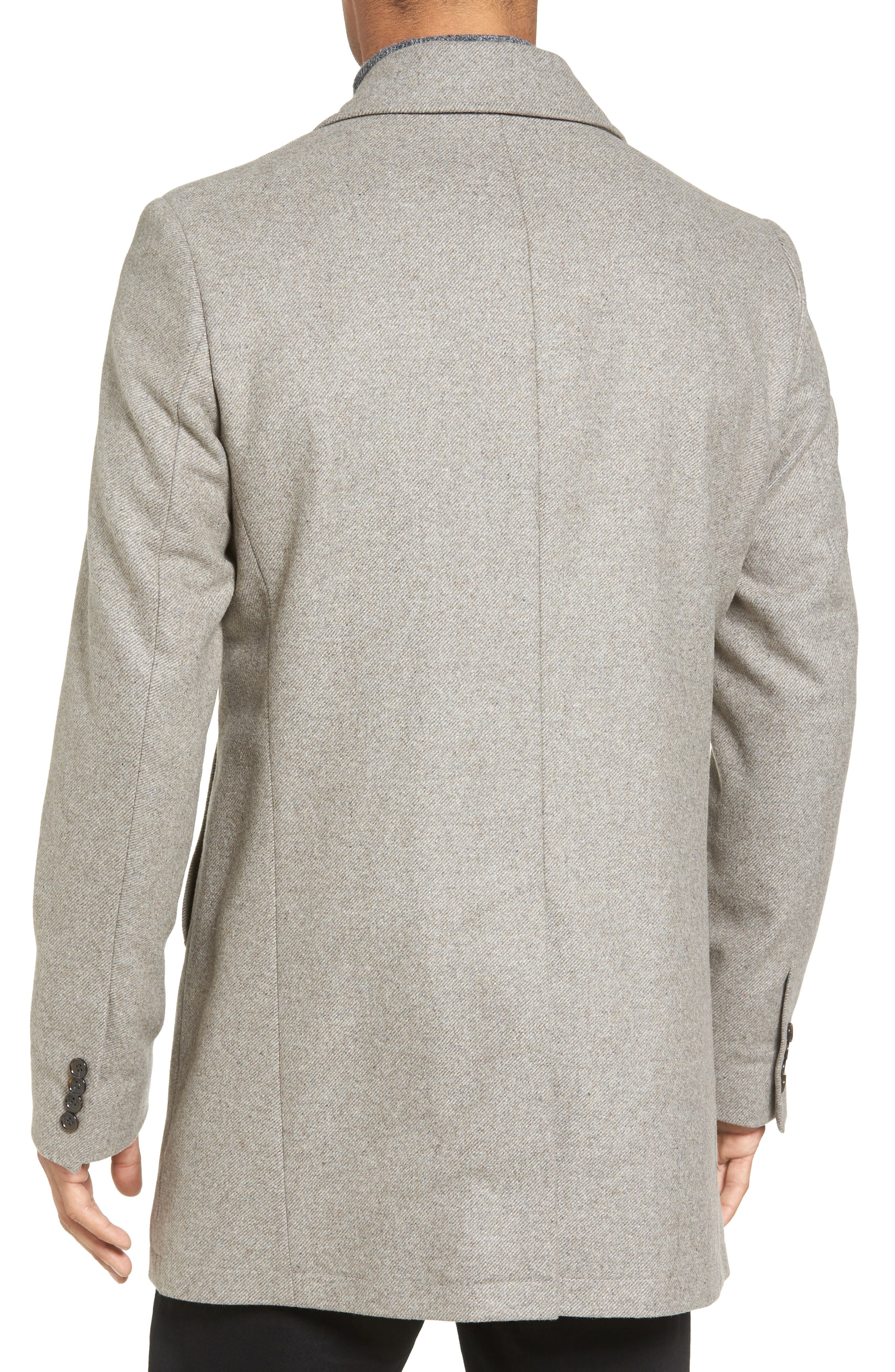 Slim Fit Wool Blend Topcoat,                             Alternate thumbnail 2, color,                             297