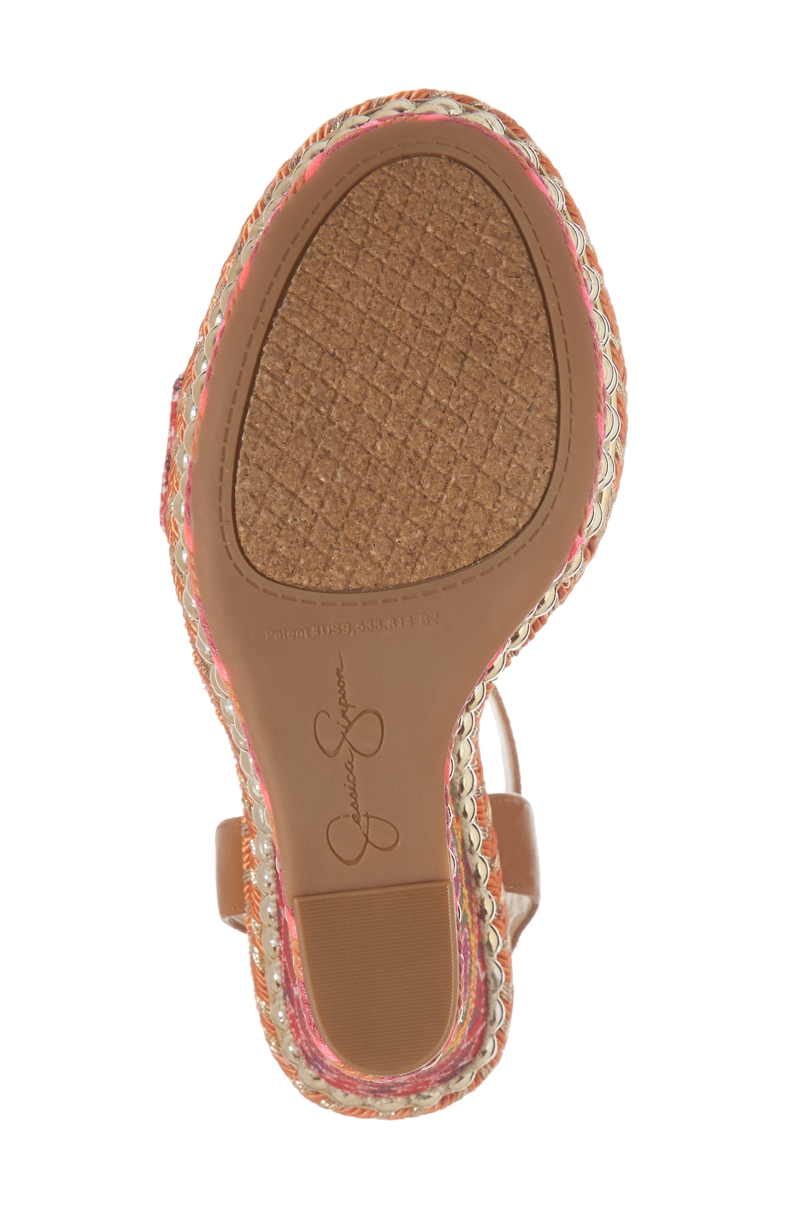 Alinda Embellished Wedge Sandal,                             Alternate thumbnail 12, color,
