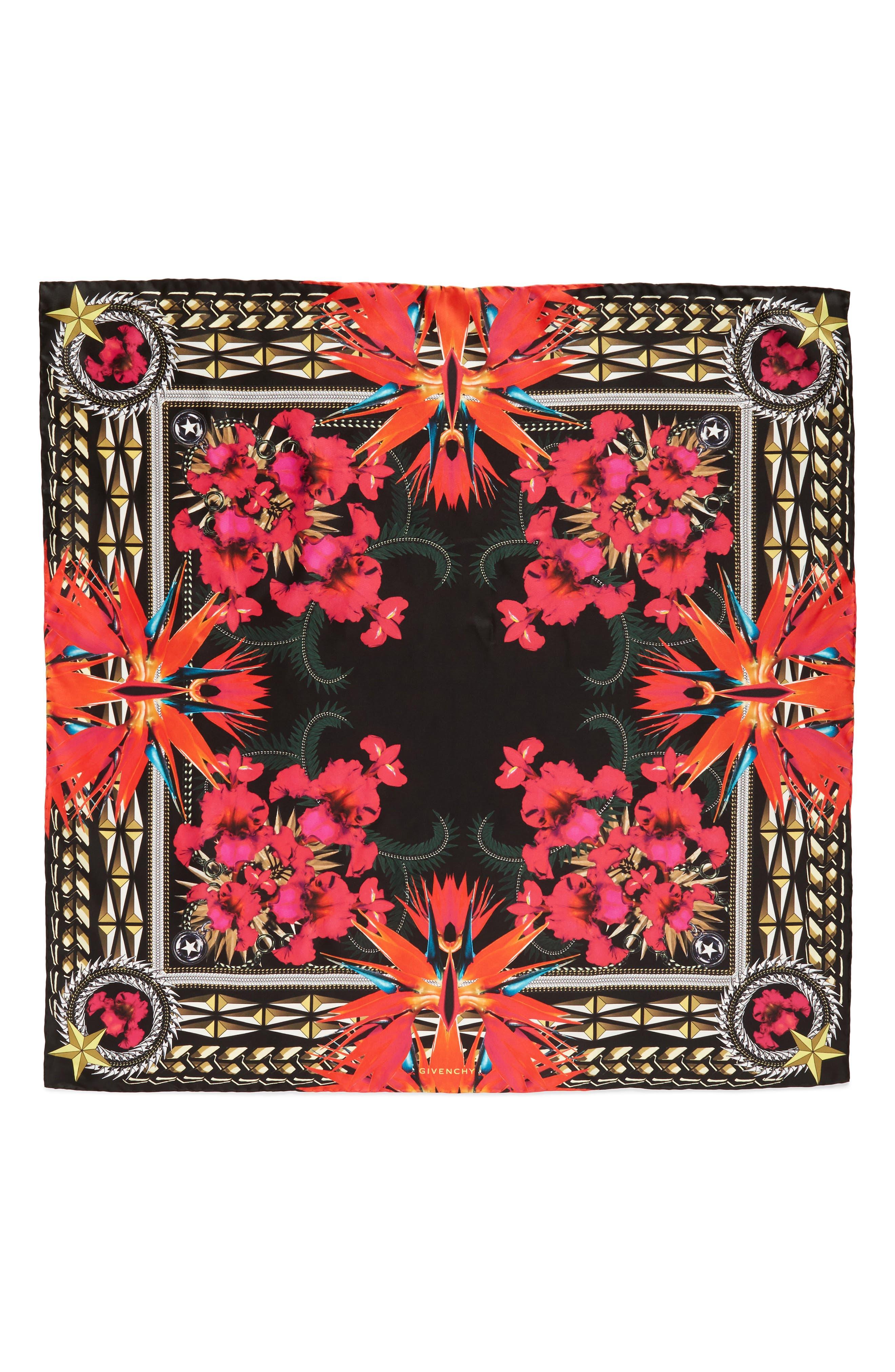 Iris Silk Twill Square Scarf,                         Main,                         color,