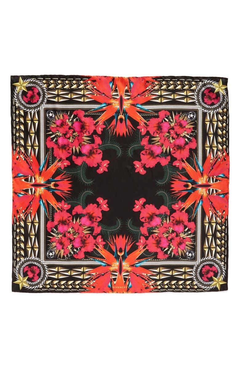 03a4f68af2d Givenchy Iris Silk Twill Square Scarf