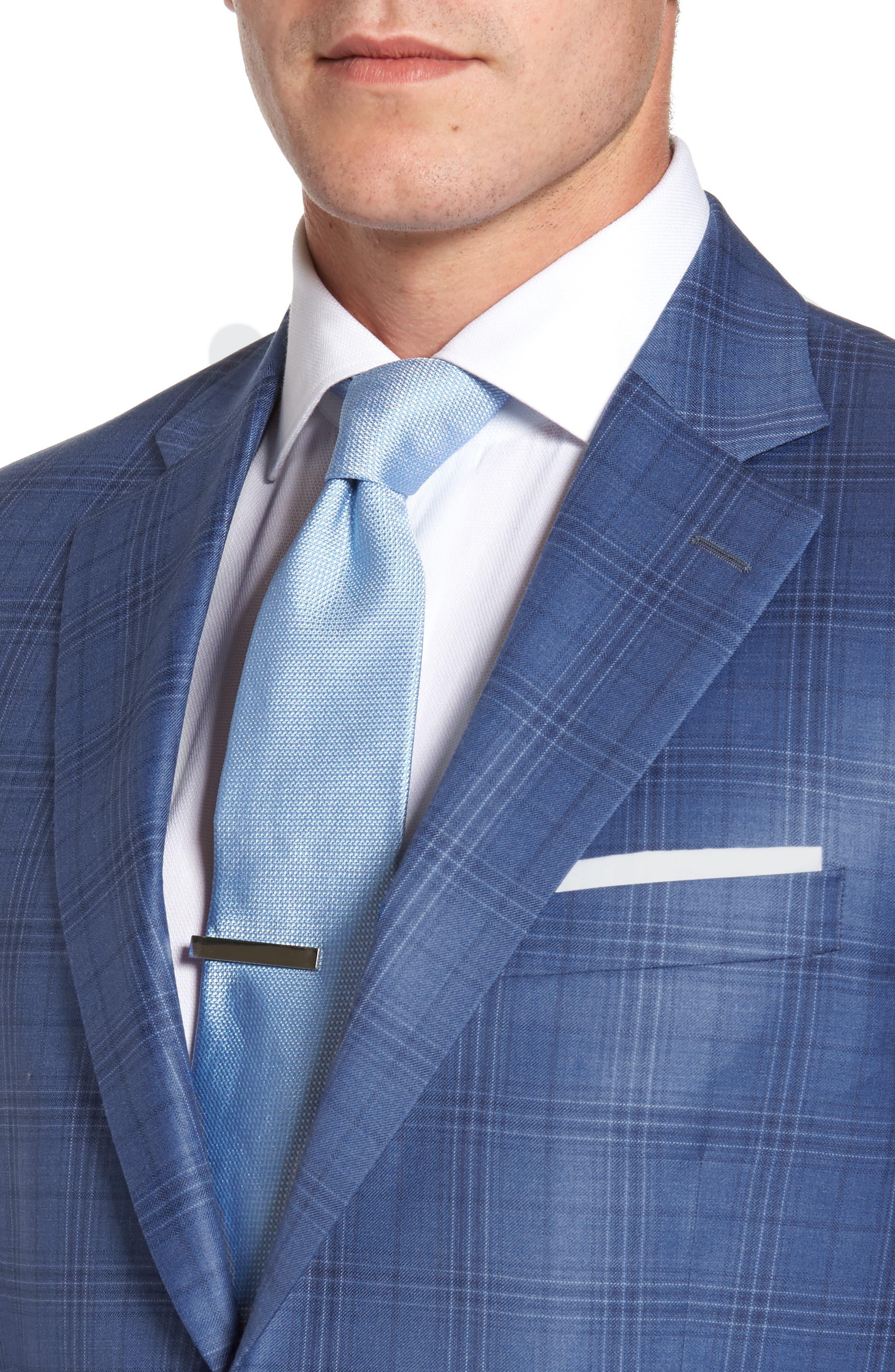 Flynn Classic Fit Plaid Wool Sport Coat,                             Alternate thumbnail 4, color,                             420