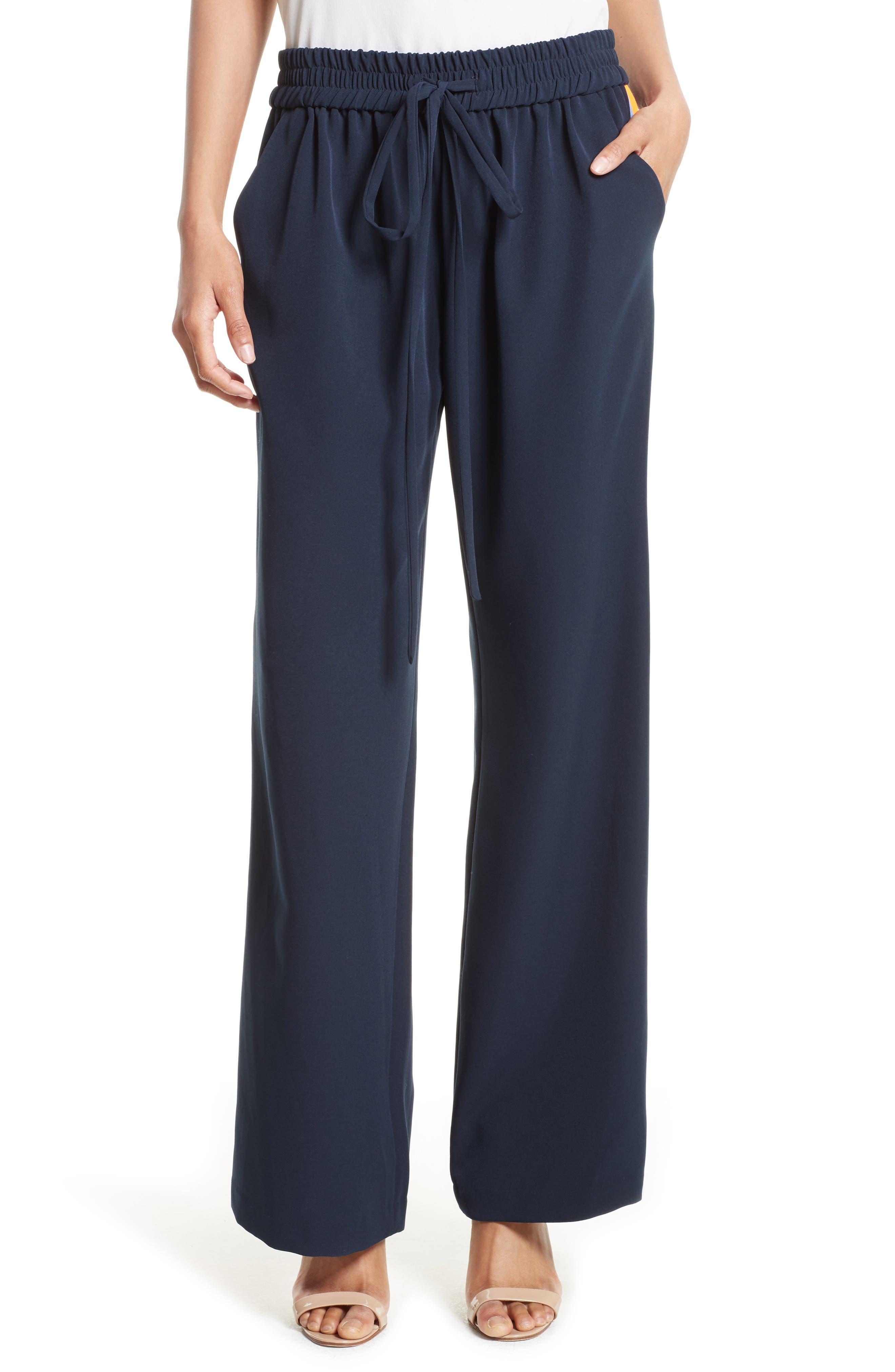 Italian Cady Track Pants, Main, color, 410