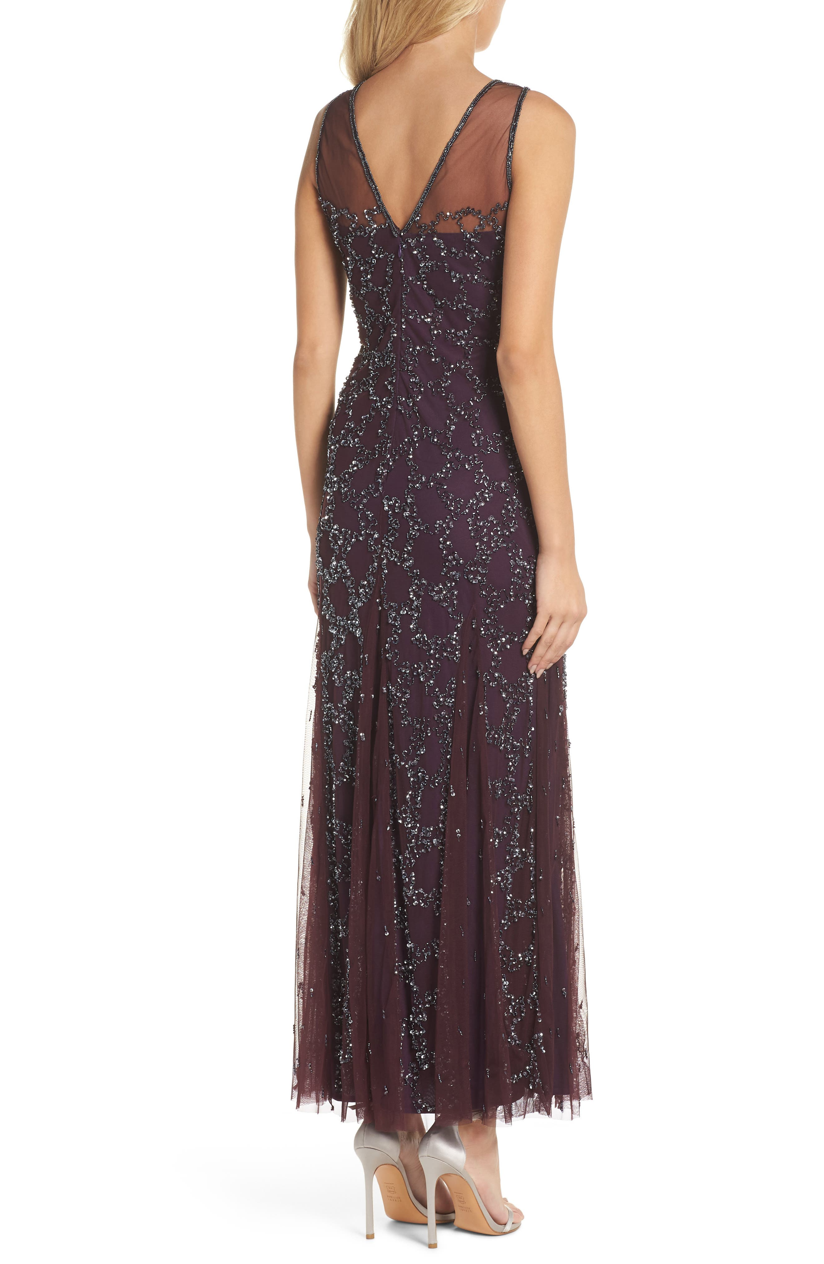 Sequin Mesh Gown with Jacket,                             Alternate thumbnail 4, color,                             502