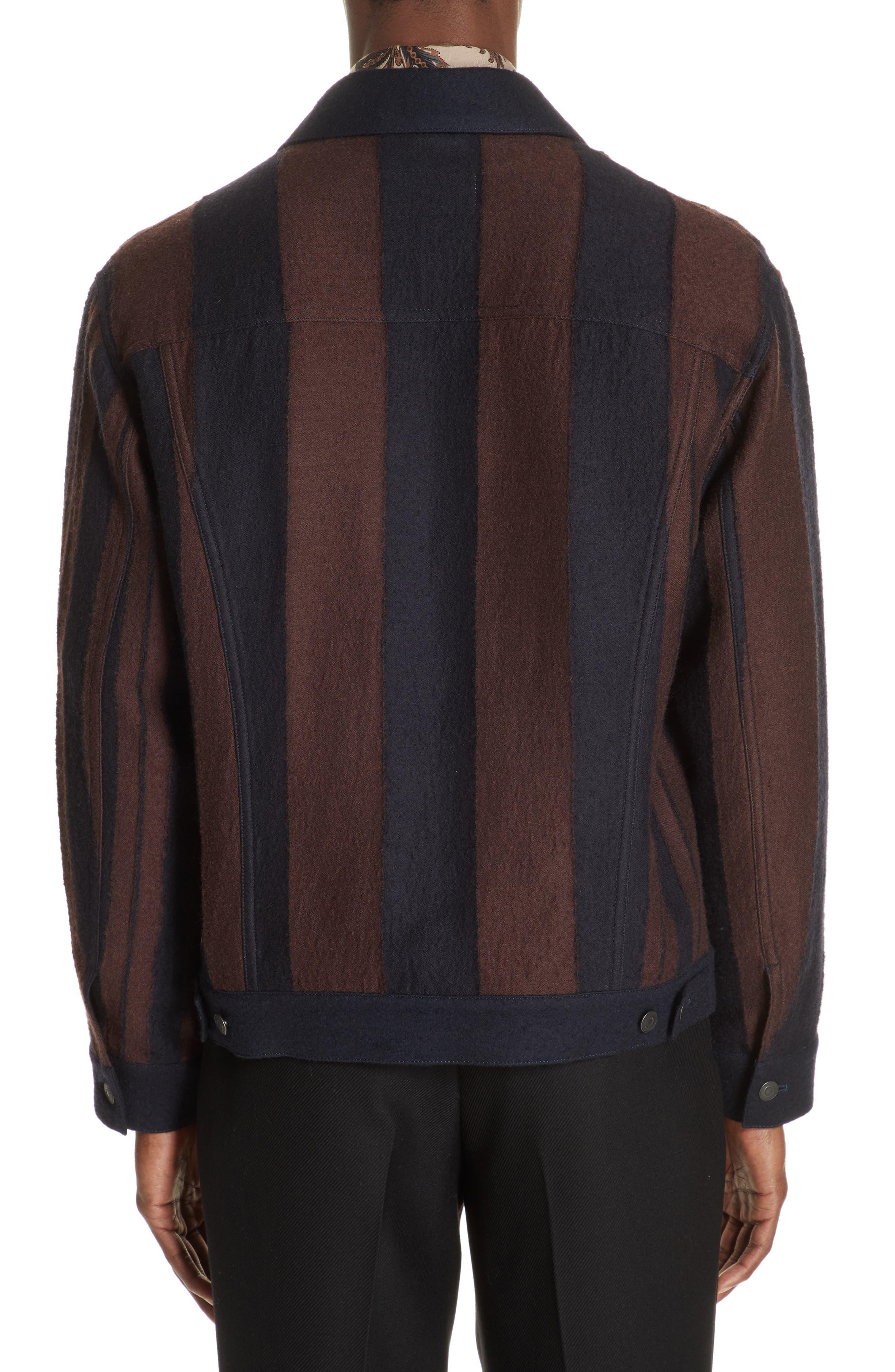 Stripe Wool Blend Jacket,                             Alternate thumbnail 2, color,                             001
