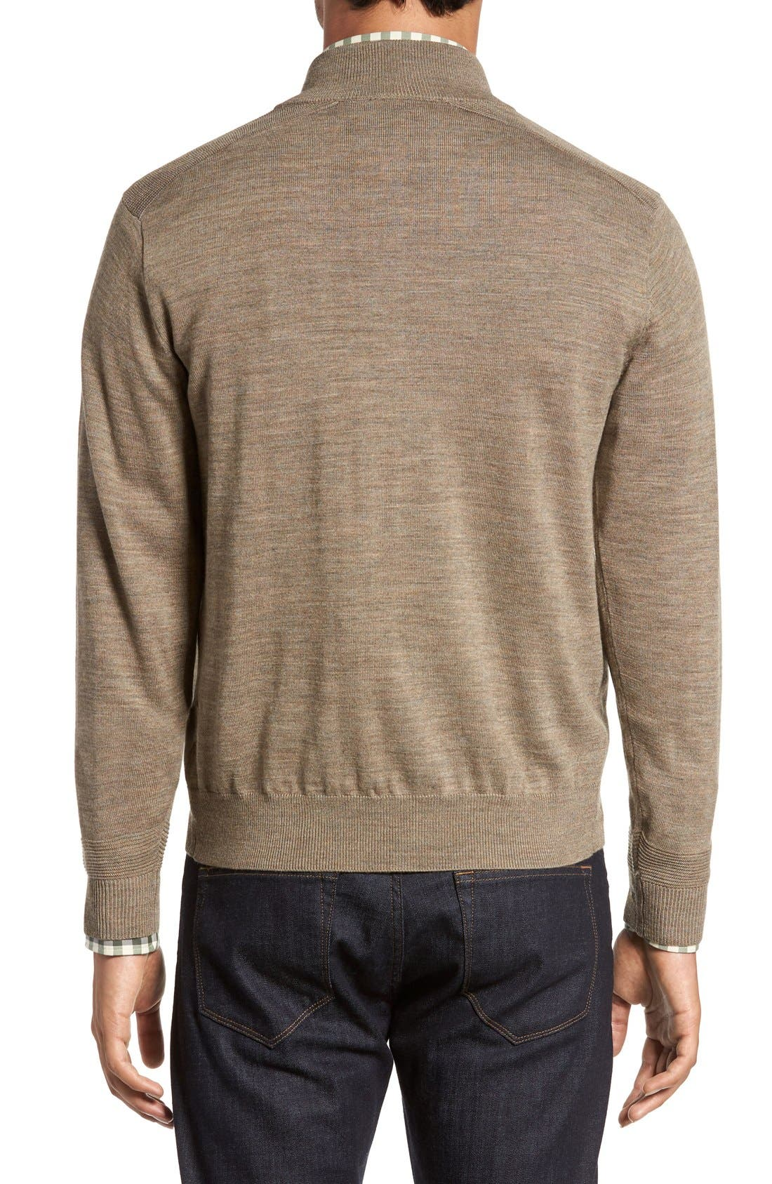 Douglas Quarter Zip Wool Blend Sweater,                             Alternate thumbnail 8, color,