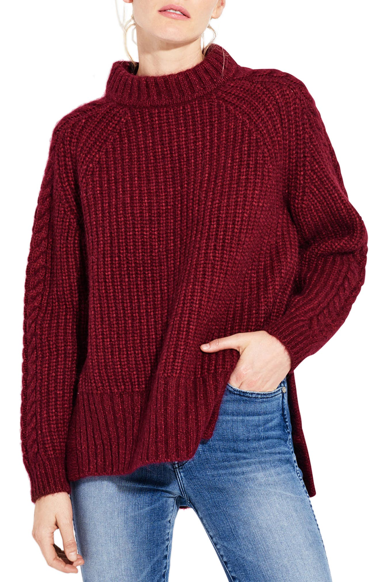 The Spark Mock Neck Sweater,                         Main,                         color, 600