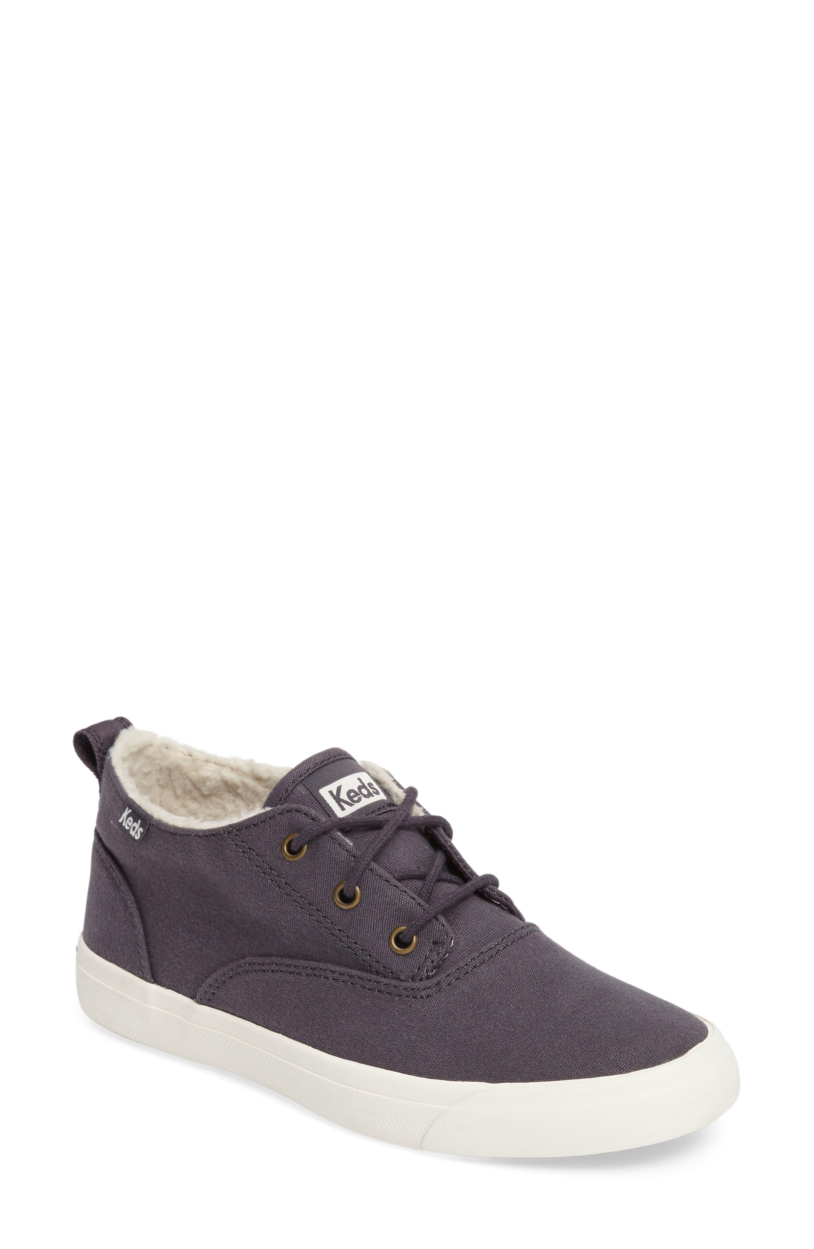 Triumph Faux Shearling Sneaker, Main, color, 021