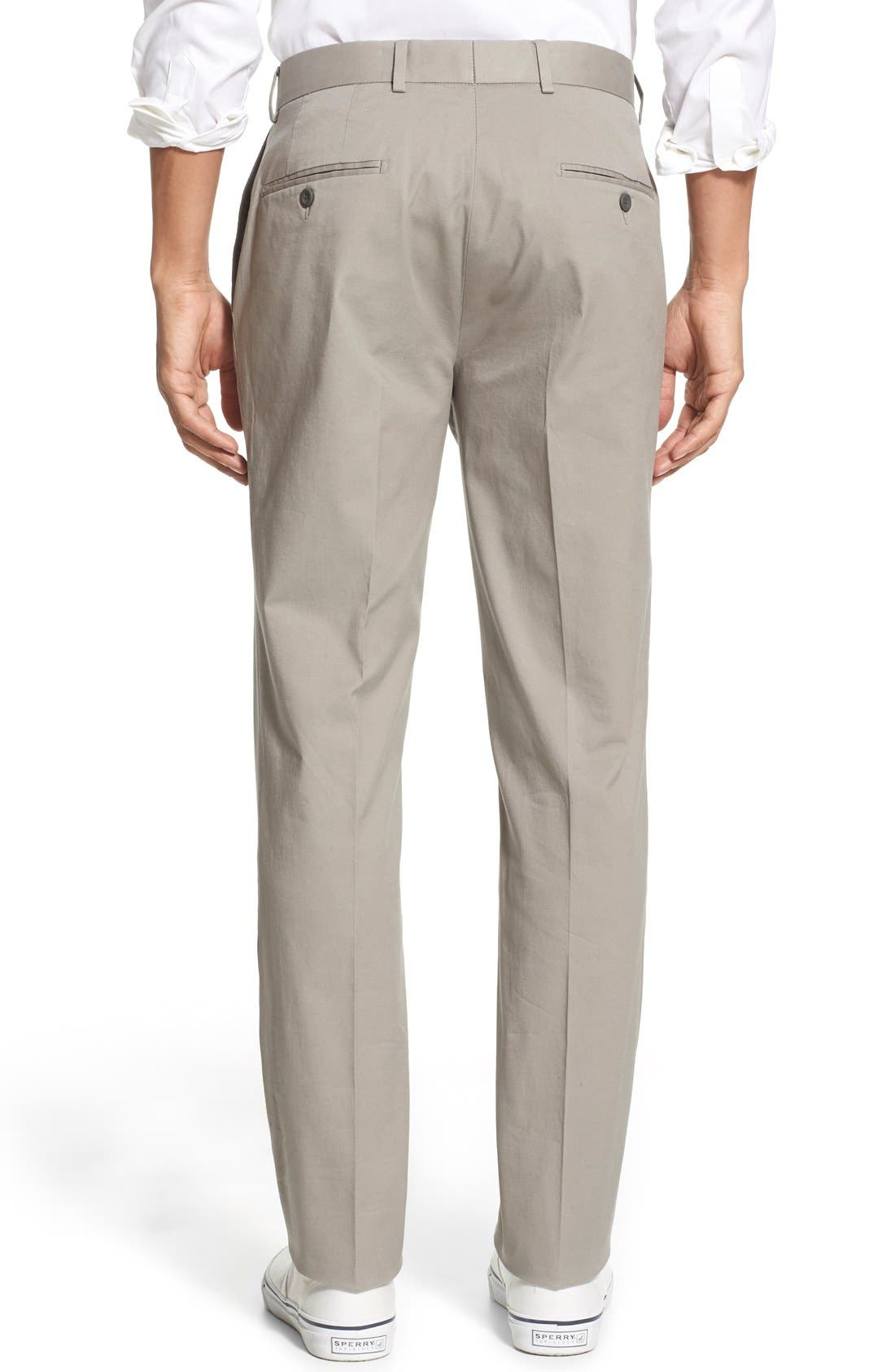 Washed Trim Fit Stretch Cotton Trousers,                             Alternate thumbnail 20, color,