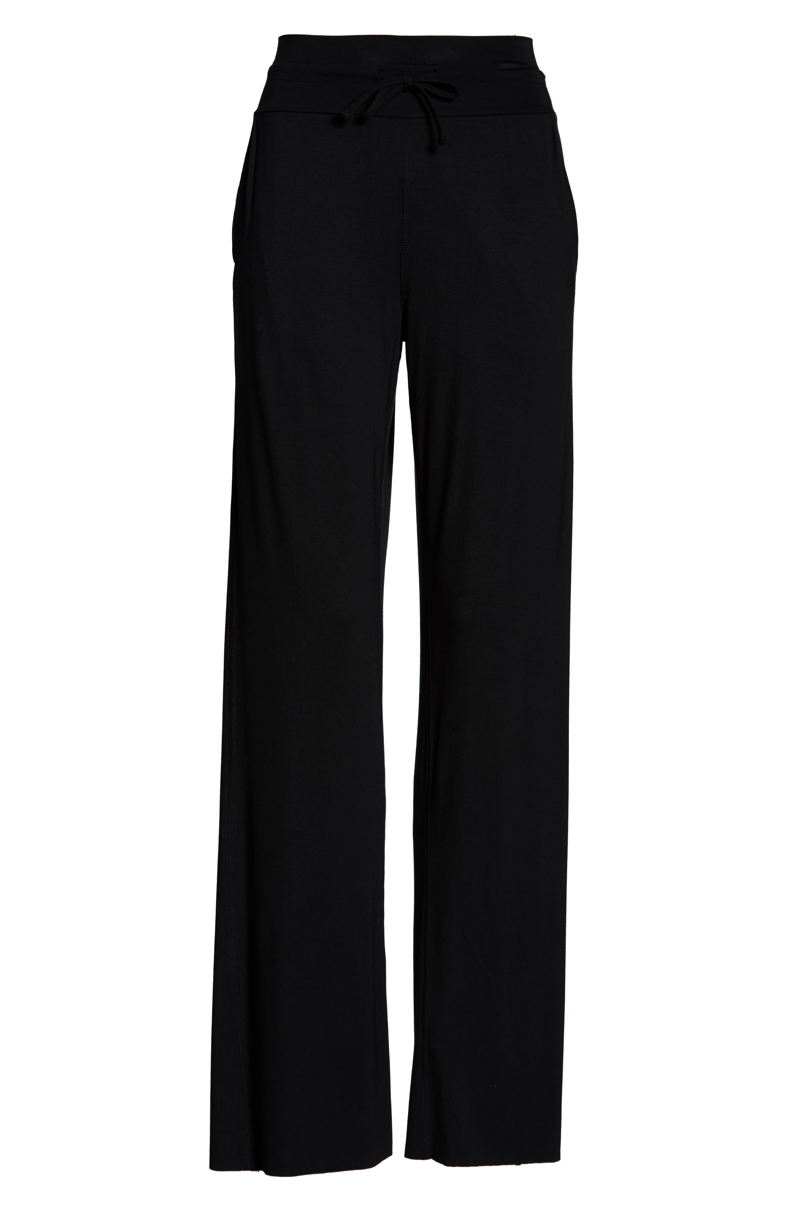 ALO,                             Drawstring Pants,                             Alternate thumbnail 7, color,                             BLACK