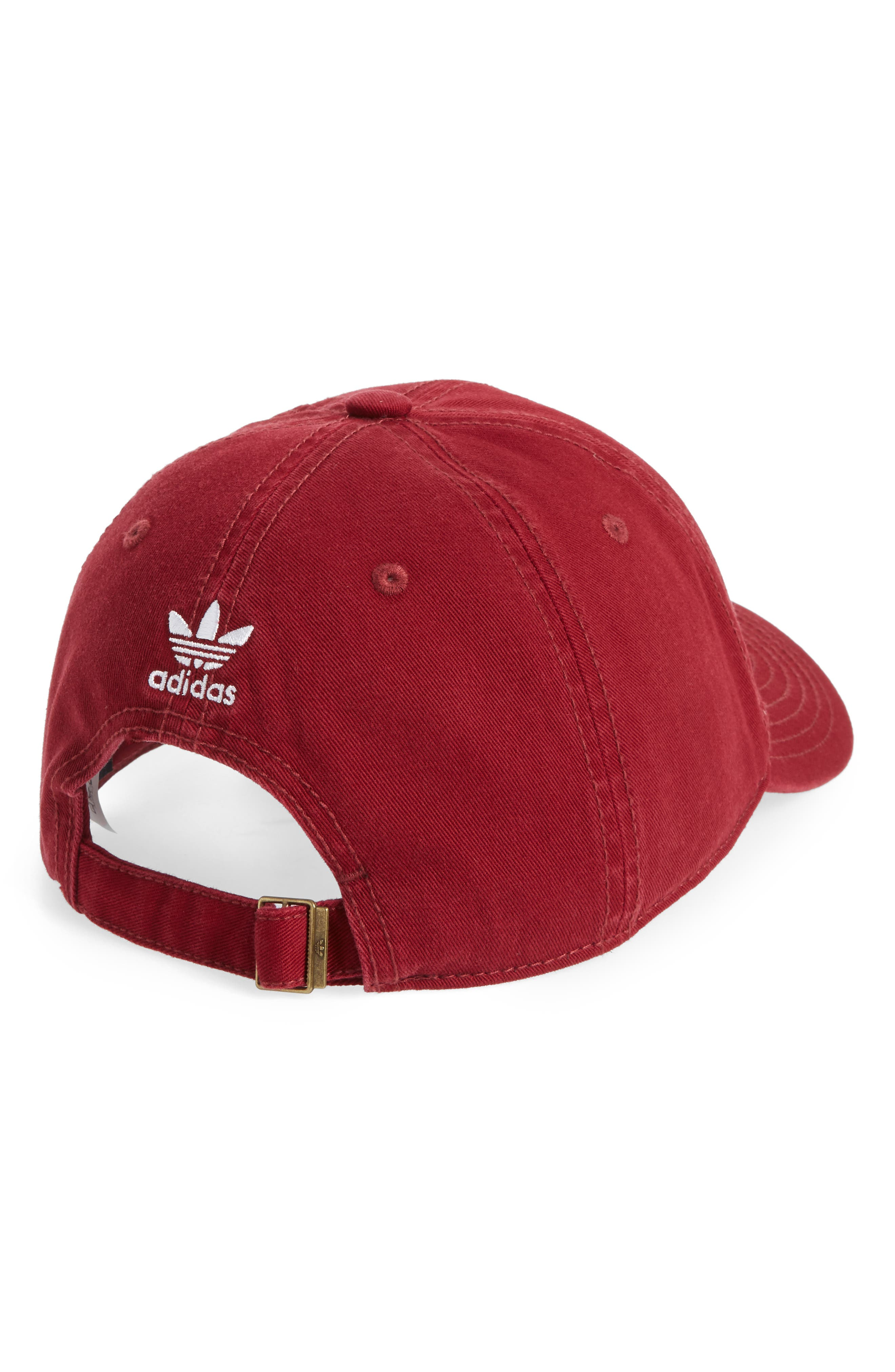 Relaxed Cotton Baseball Cap,                             Alternate thumbnail 2, color,                             COLLEGIATE BURGUNDY/ WHITE