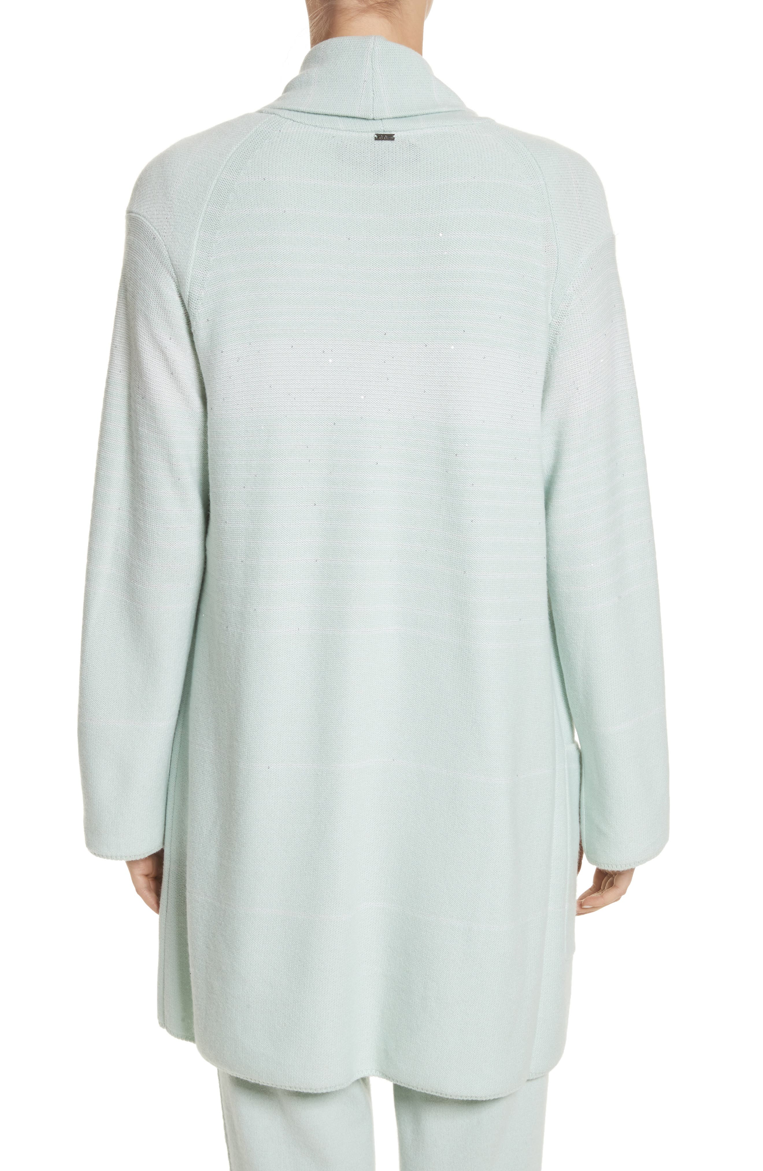Sequin Cashmere & Silk Cardigan,                             Alternate thumbnail 2, color,
