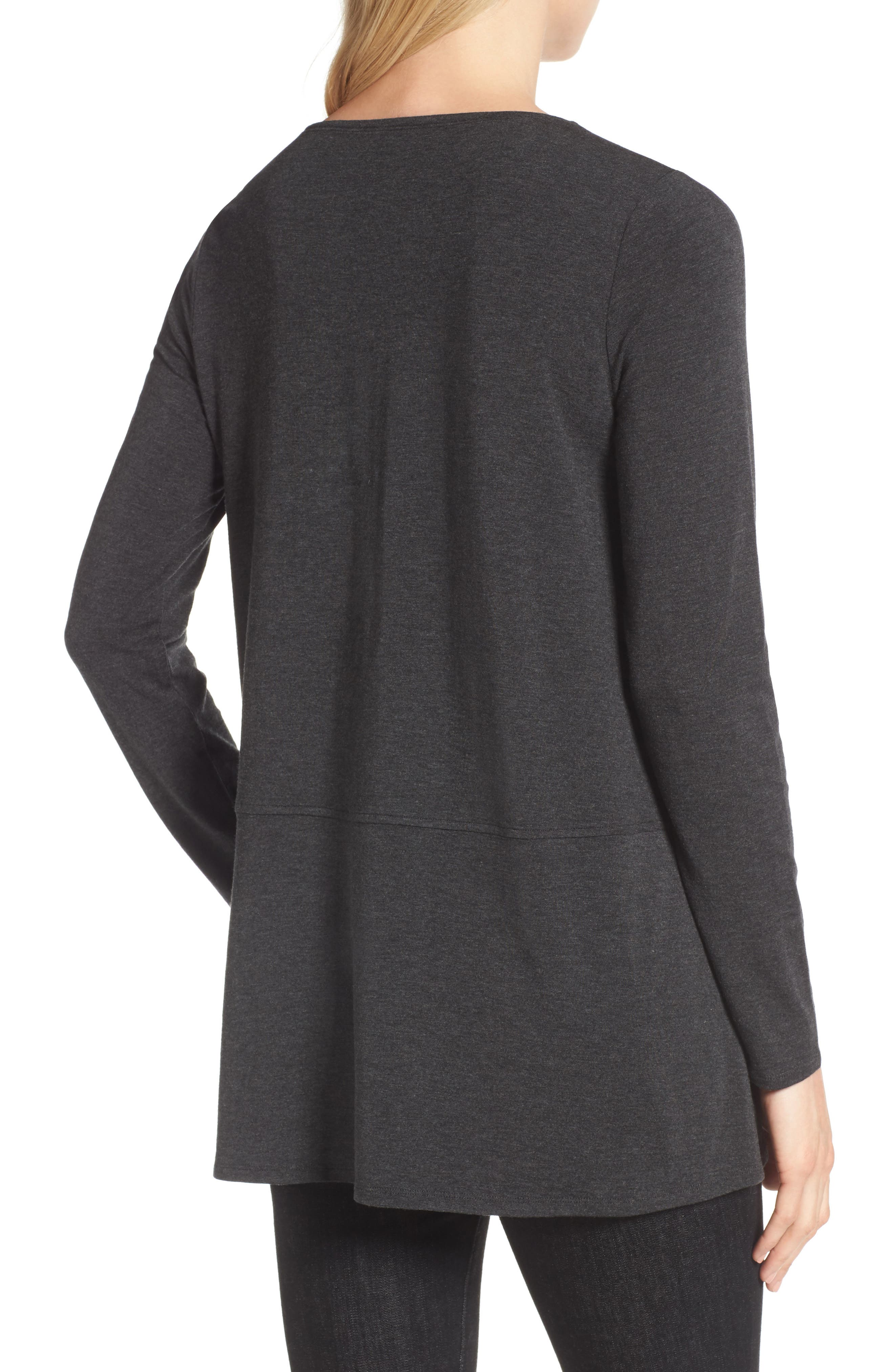 Stretch Tencel<sup>®</sup> Top,                             Alternate thumbnail 3, color,