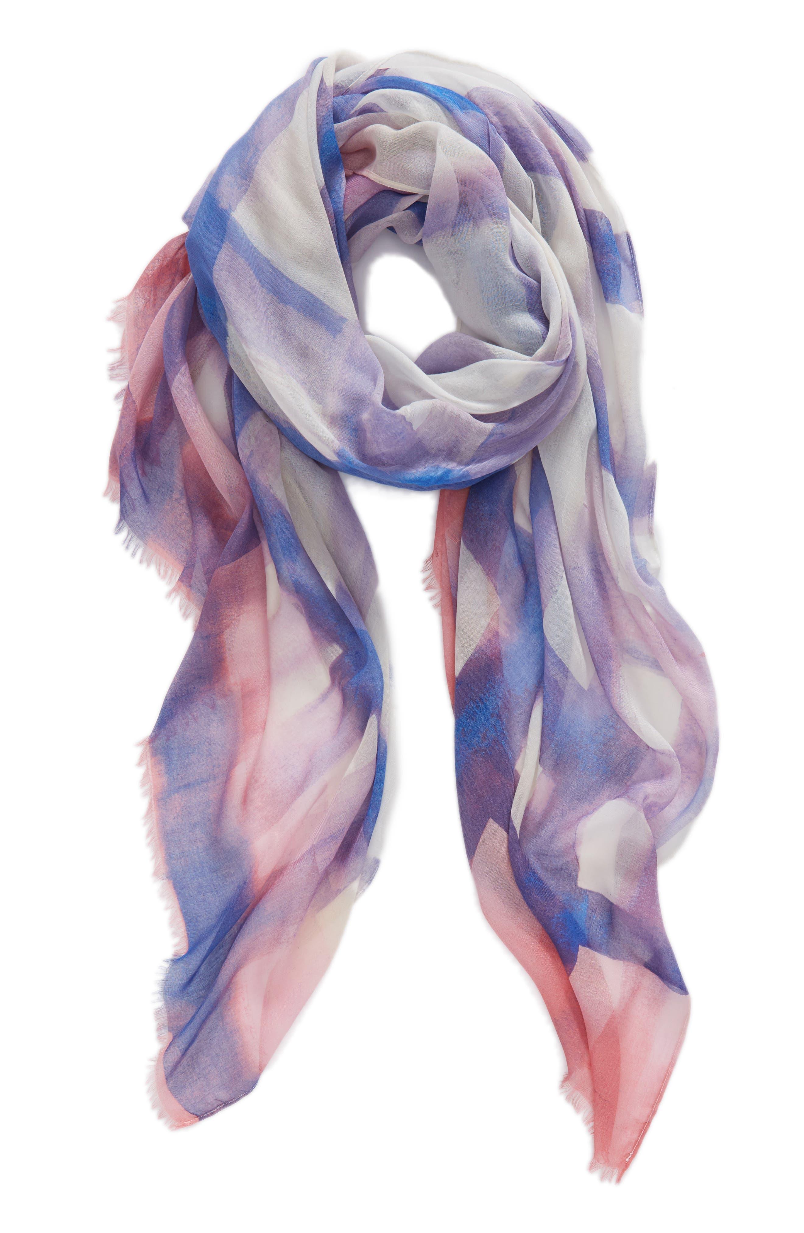 Print Modal & Silk Scarf,                             Alternate thumbnail 24, color,