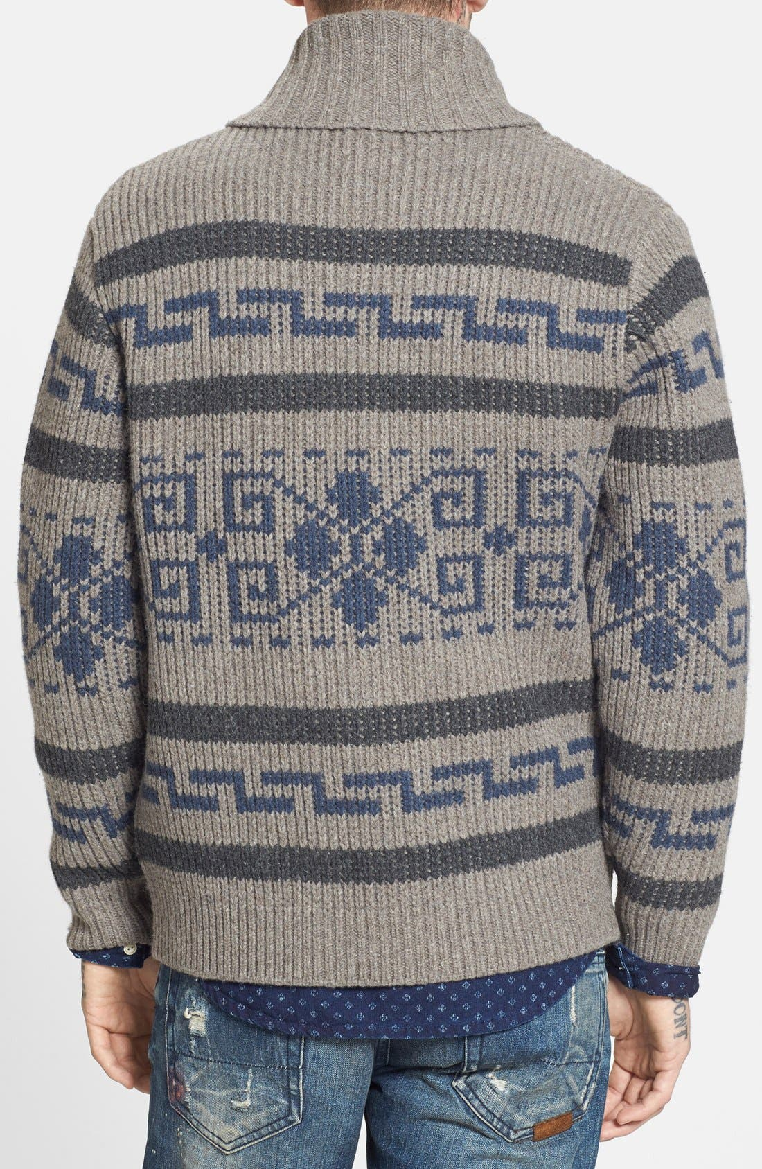 'Westerly' Lambswool Zip Sweater,                             Alternate thumbnail 2, color,                             020