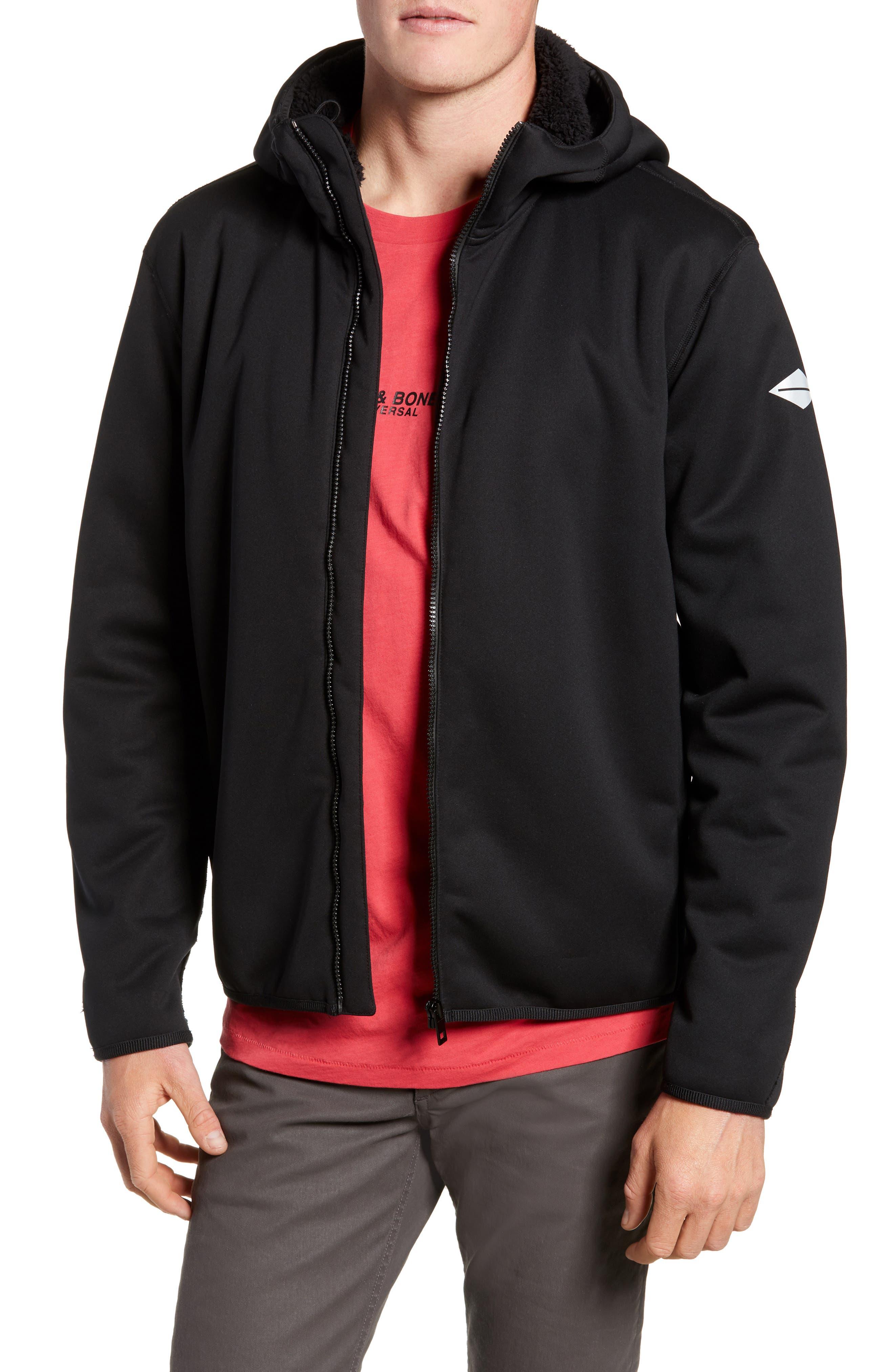 Tactic Hooded Fleece Jacket,                         Main,                         color, BLACK