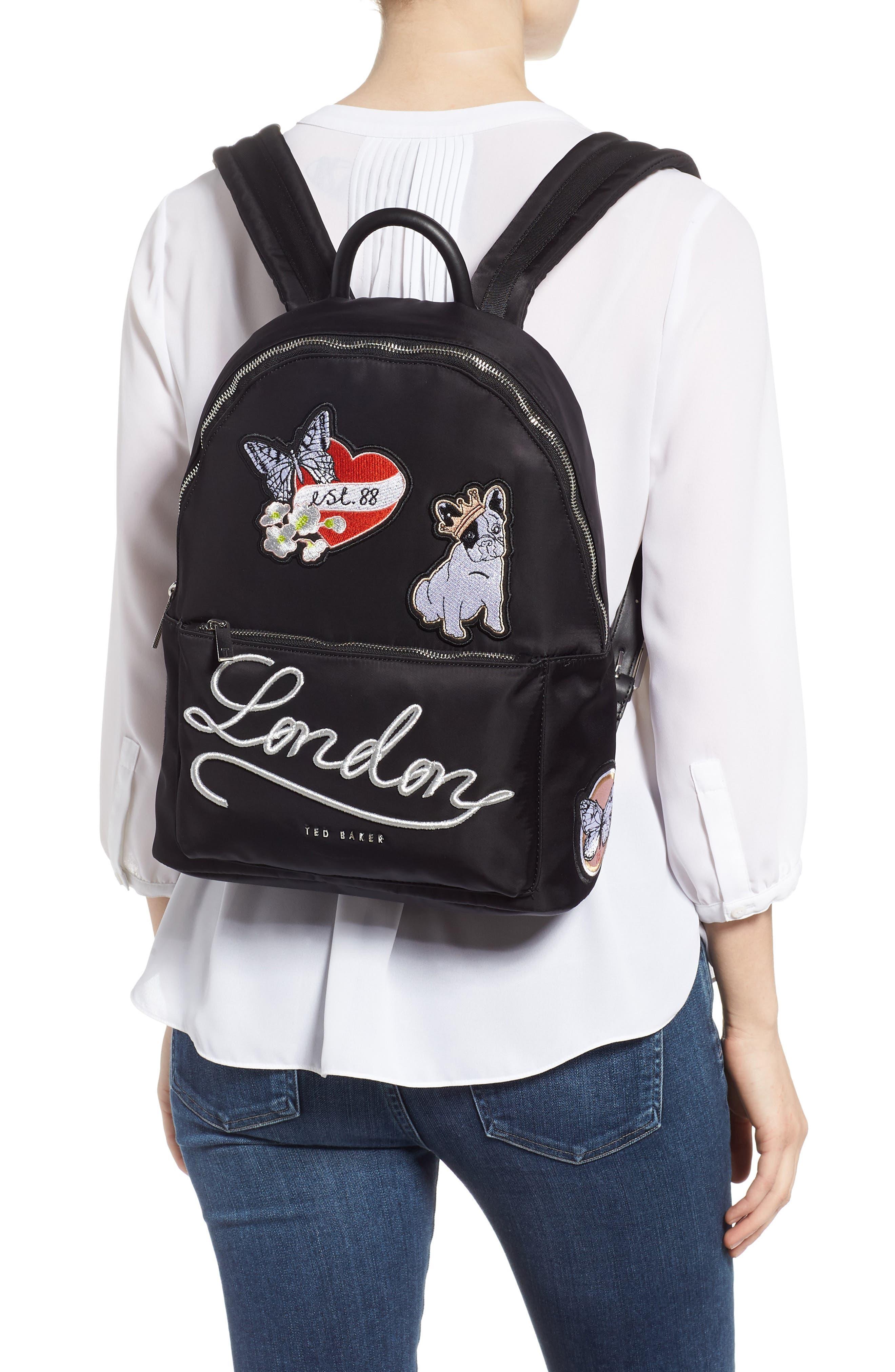 Sofiahh Nylon Backpack,                             Alternate thumbnail 2, color,                             BLACK