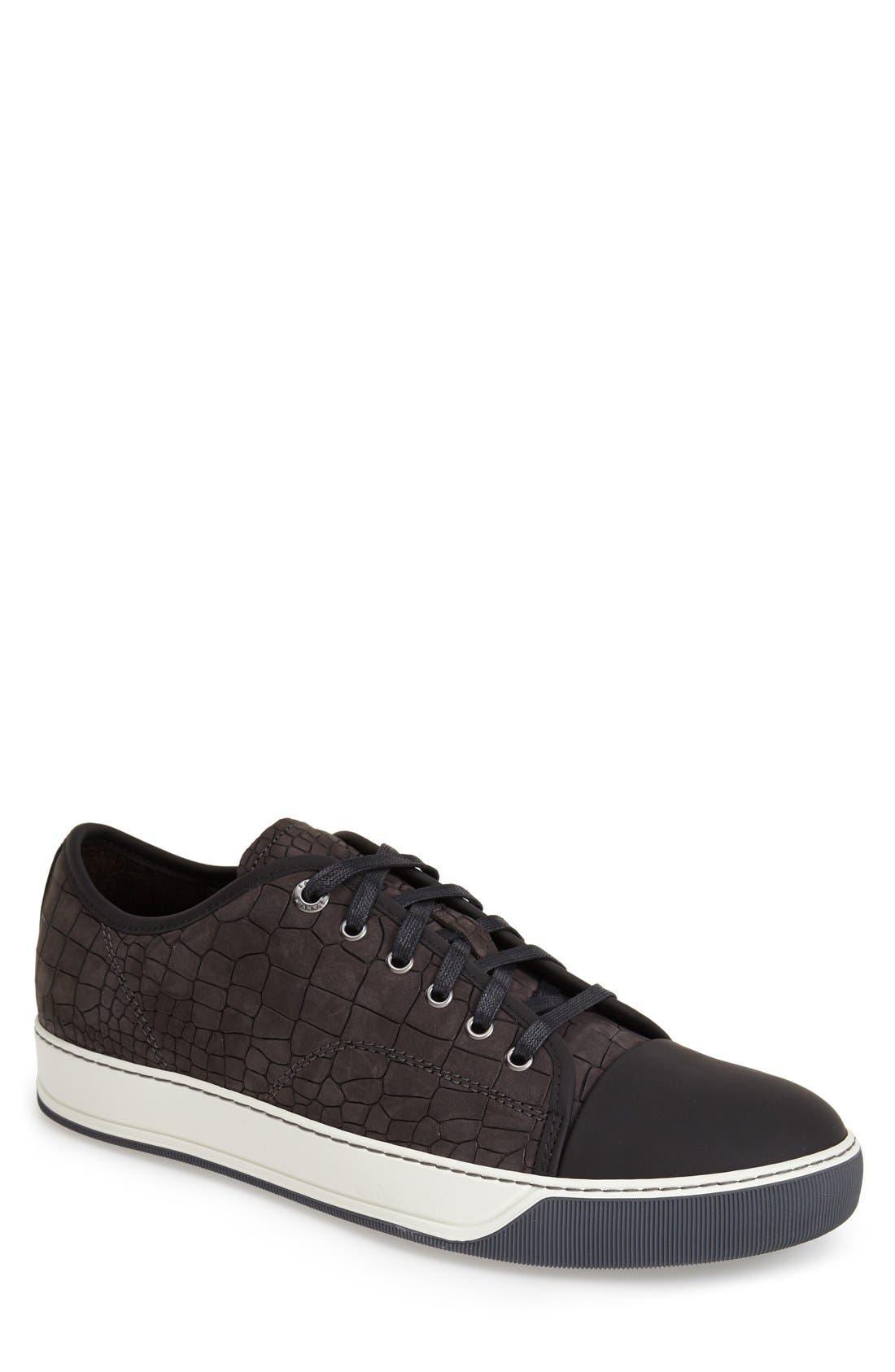 Embossed Nubuck Low Top Sneaker,                             Main thumbnail 1, color,                             024