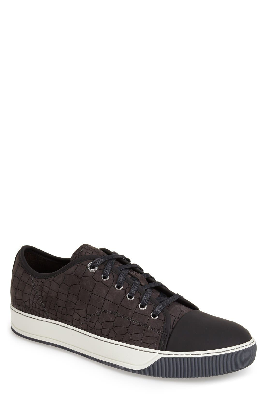 Embossed Nubuck Low Top Sneaker,                         Main,                         color, 024