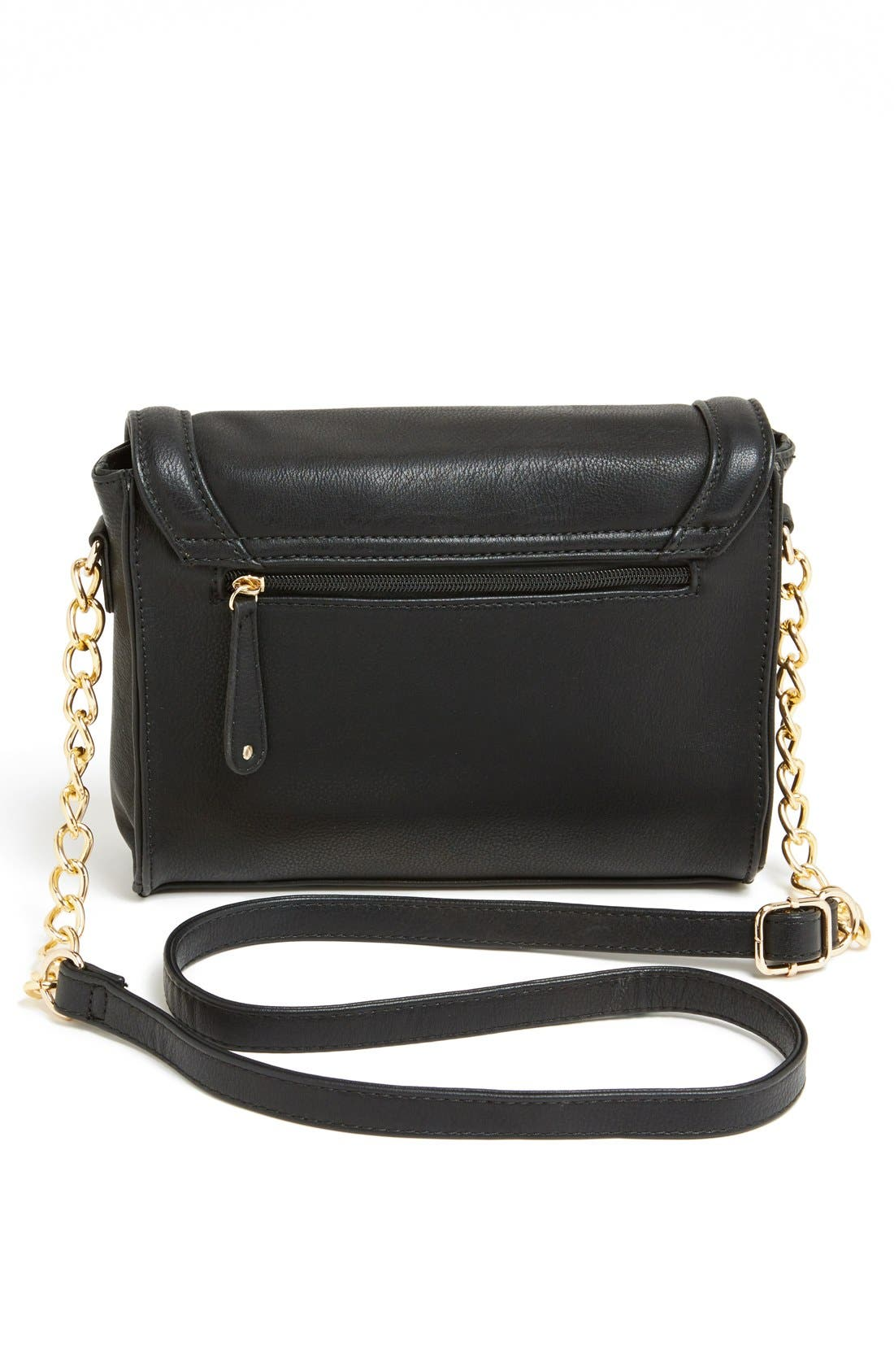 Faux Leather Crossbody,                             Alternate thumbnail 3, color,                             001