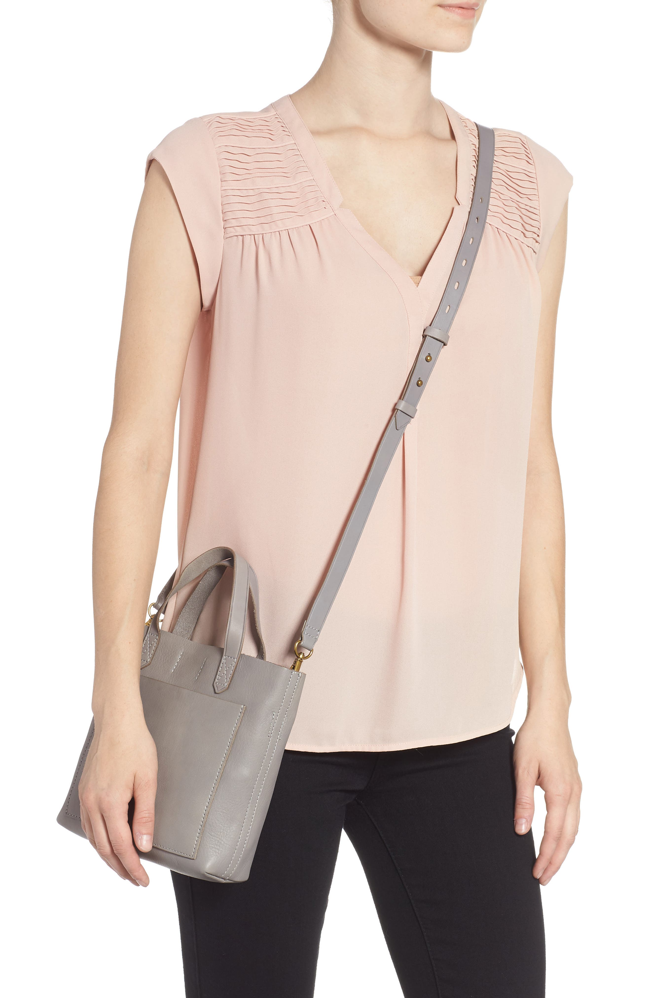Small Transport Leather Crossbody,                             Alternate thumbnail 2, color,                             STONEWALL