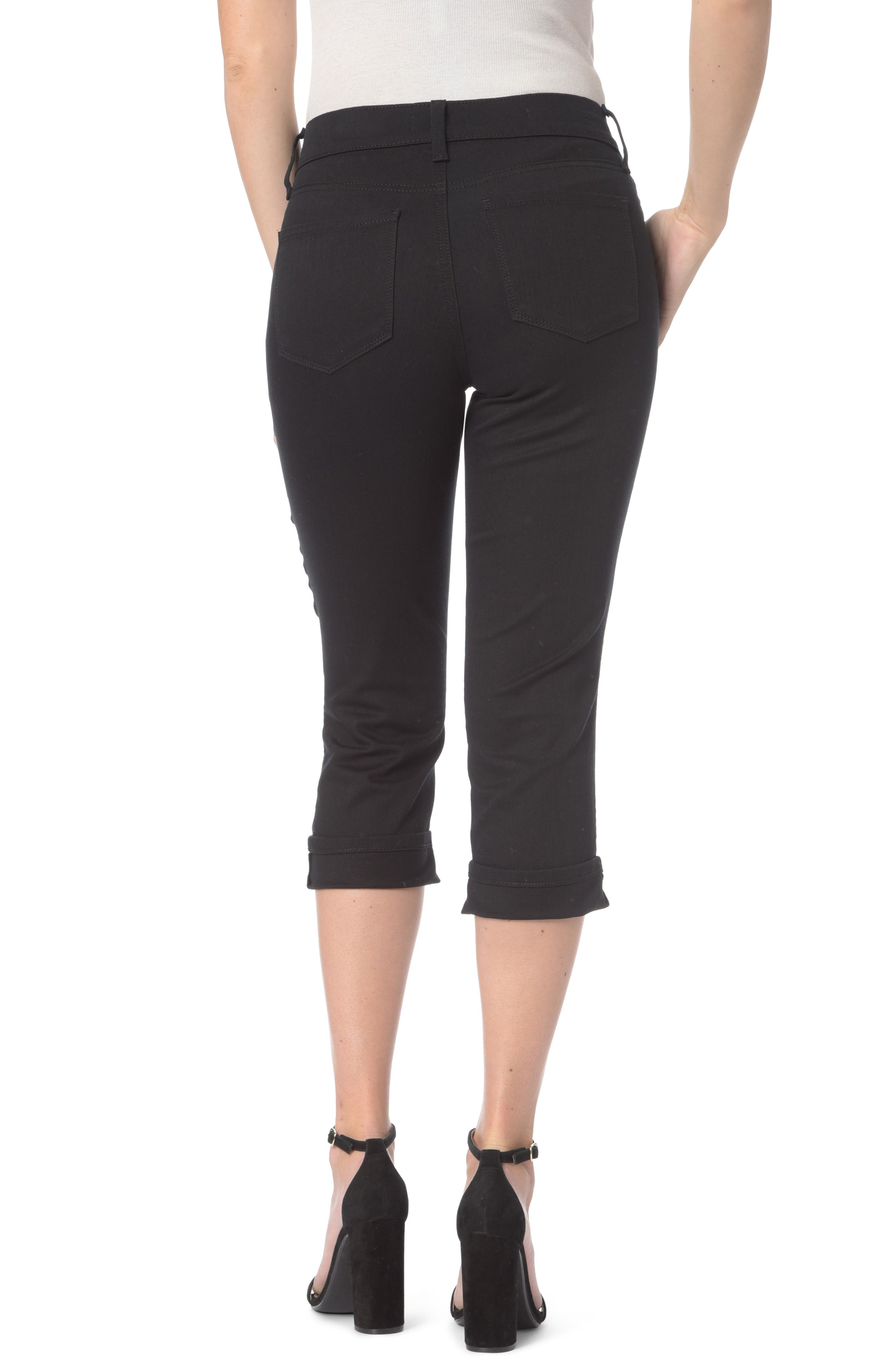 Marilyn Stretch Cuffed Crop Jeans,                             Alternate thumbnail 2, color,                             001