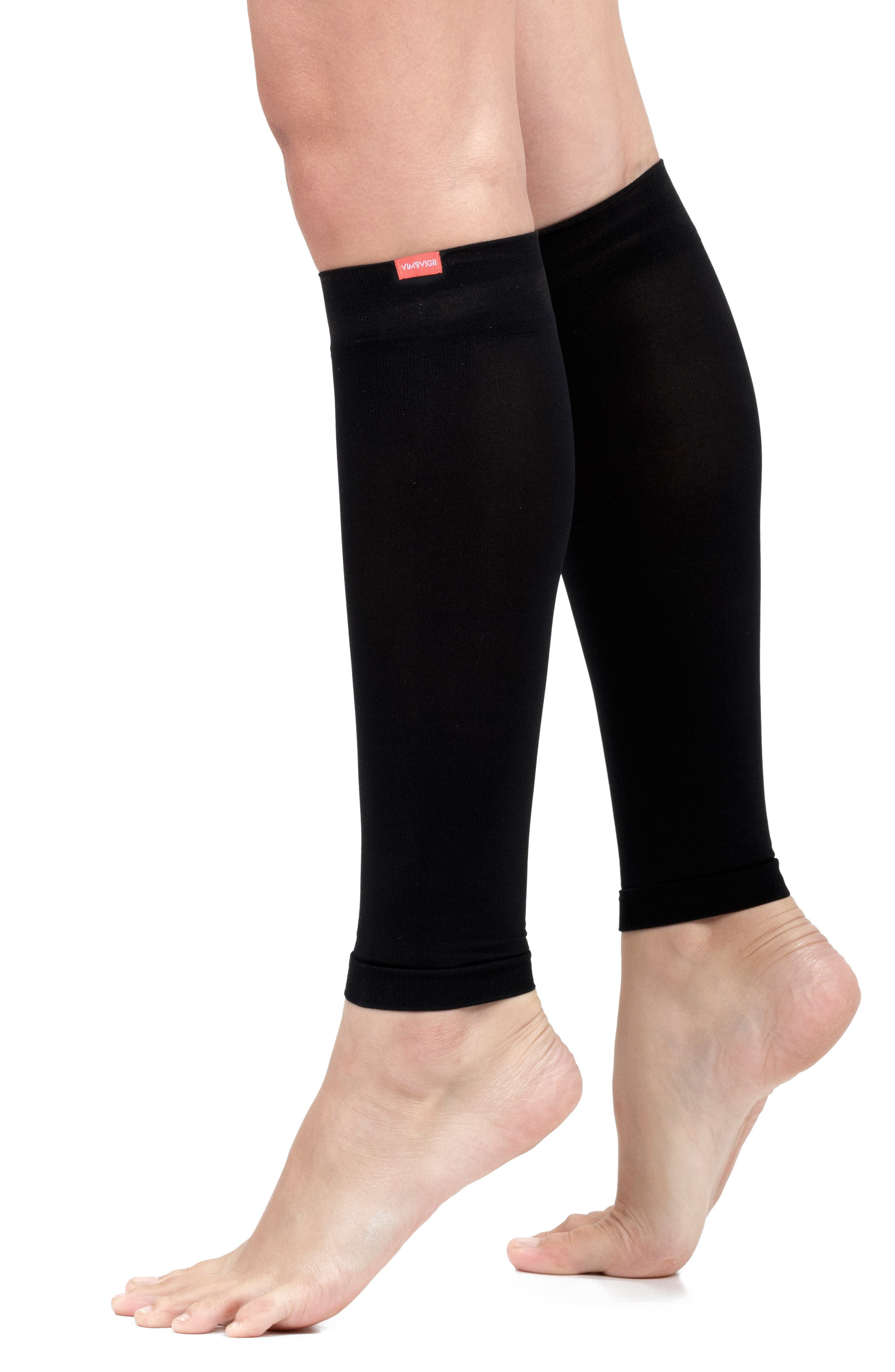 Compression Calf Sleeve,                             Alternate thumbnail 3, color,                             BLACK