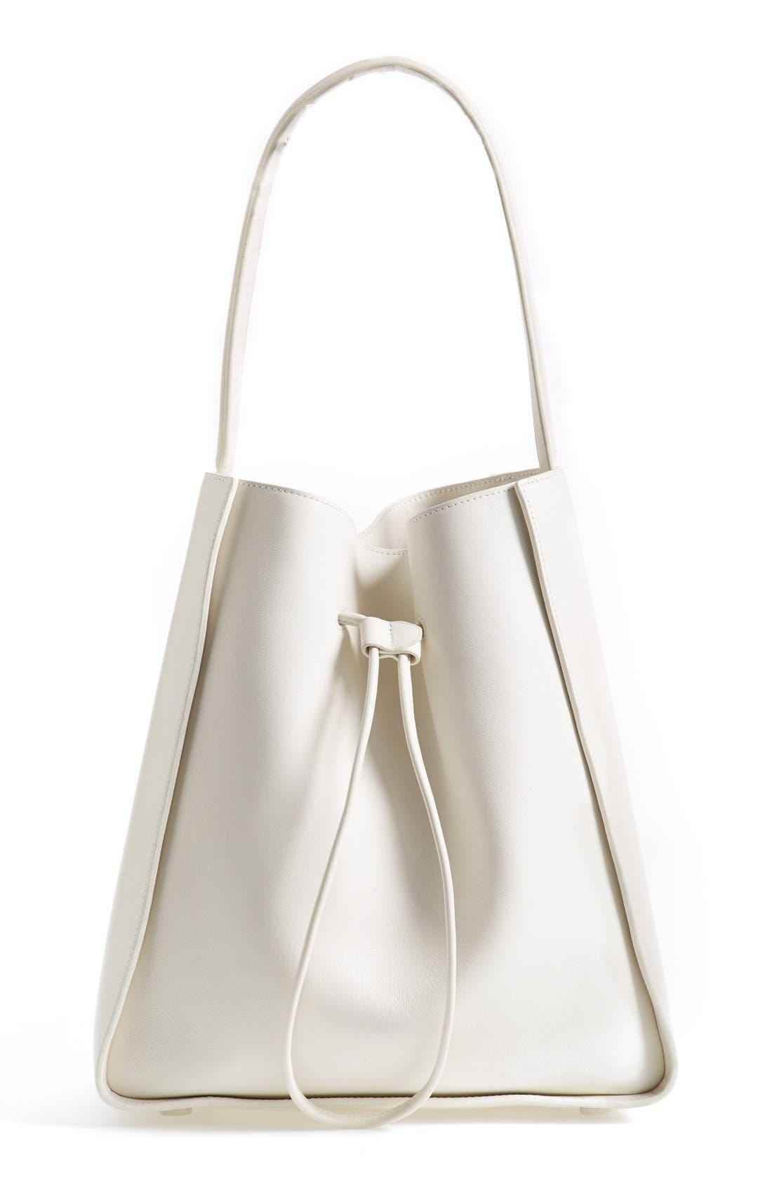 'Large Soleil' Leather Bucket Bag,                             Main thumbnail 2, color,
