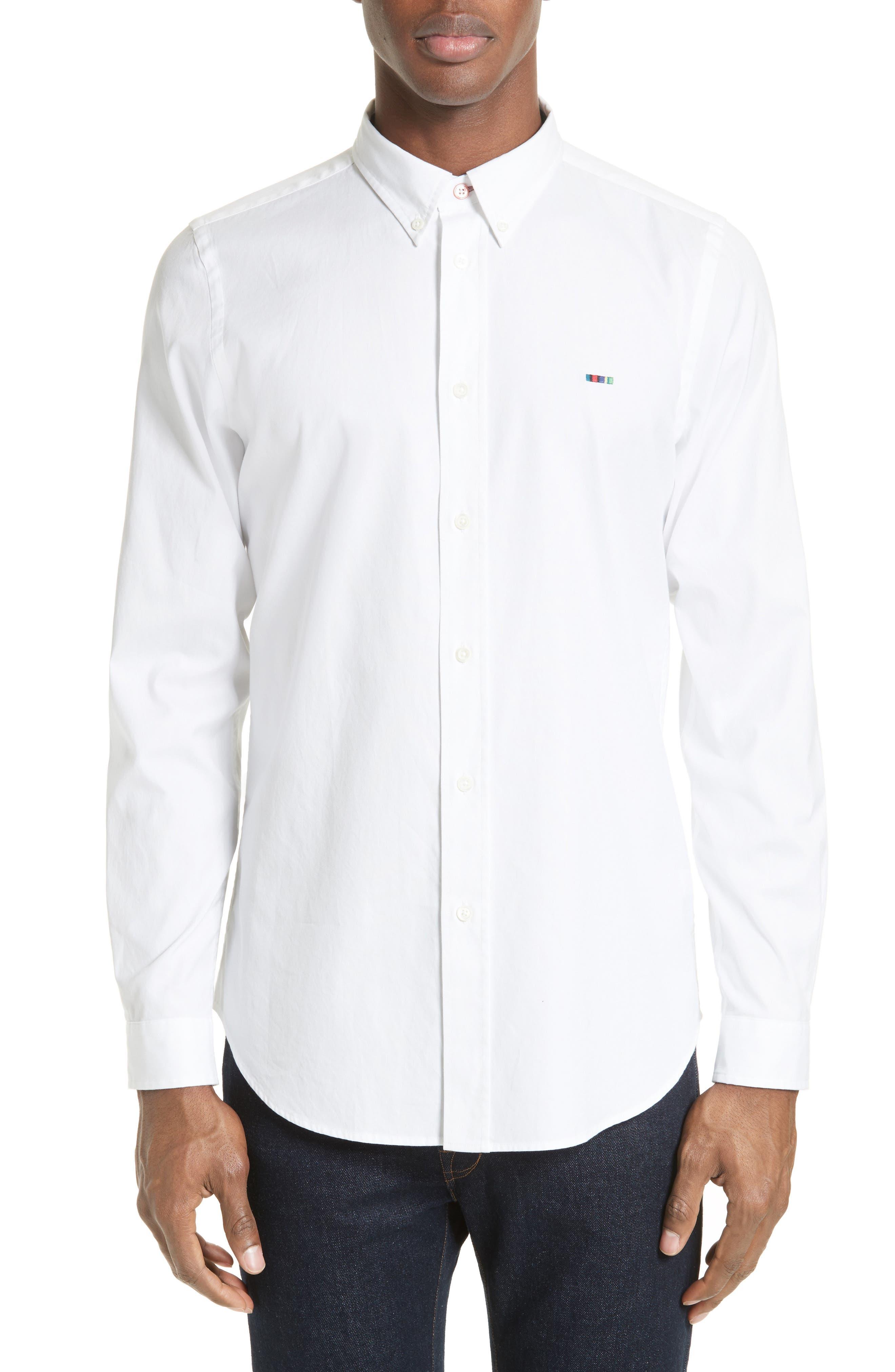 Extra Trim Fit Multi Tab Sport Shirt,                         Main,                         color, 100