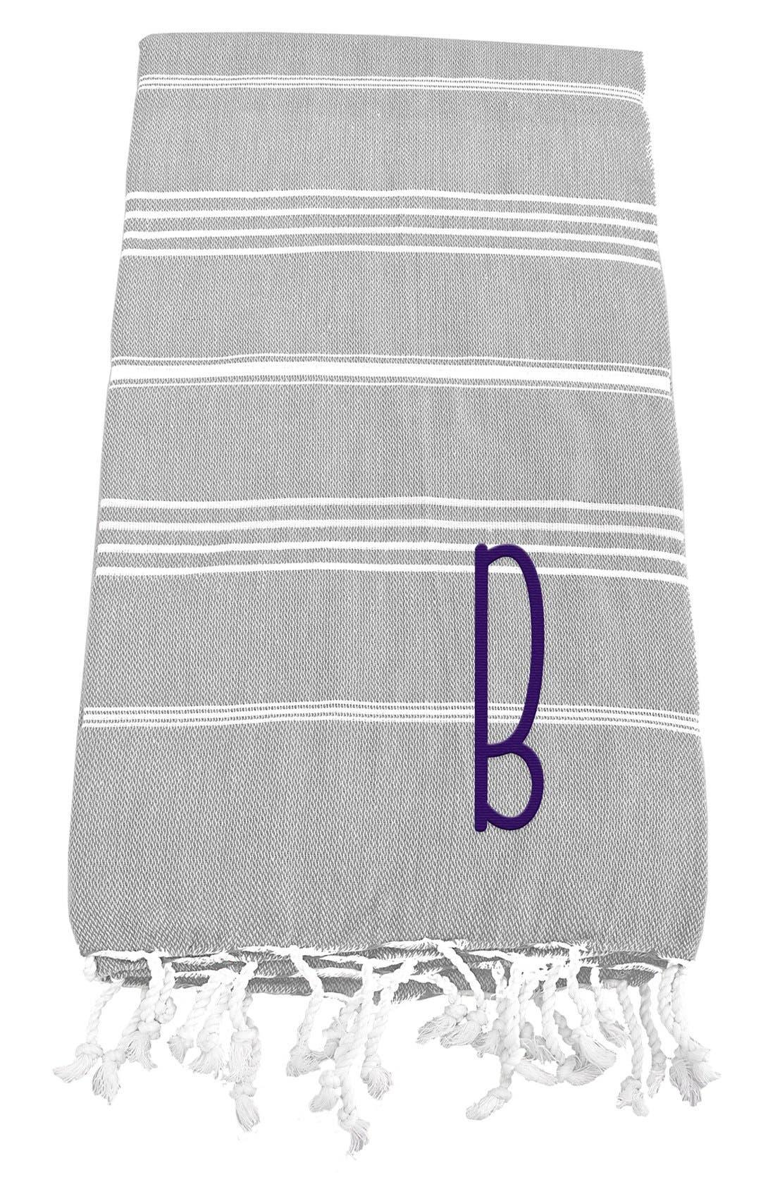 Monogram Turkish Cotton Towel,                             Main thumbnail 4, color,