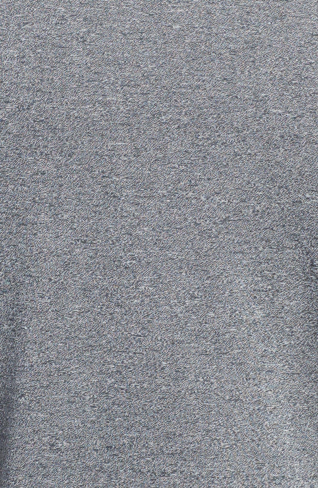 Regular Fit Threadborne T-Shirt,                             Alternate thumbnail 5, color,                             BLACK TWIST