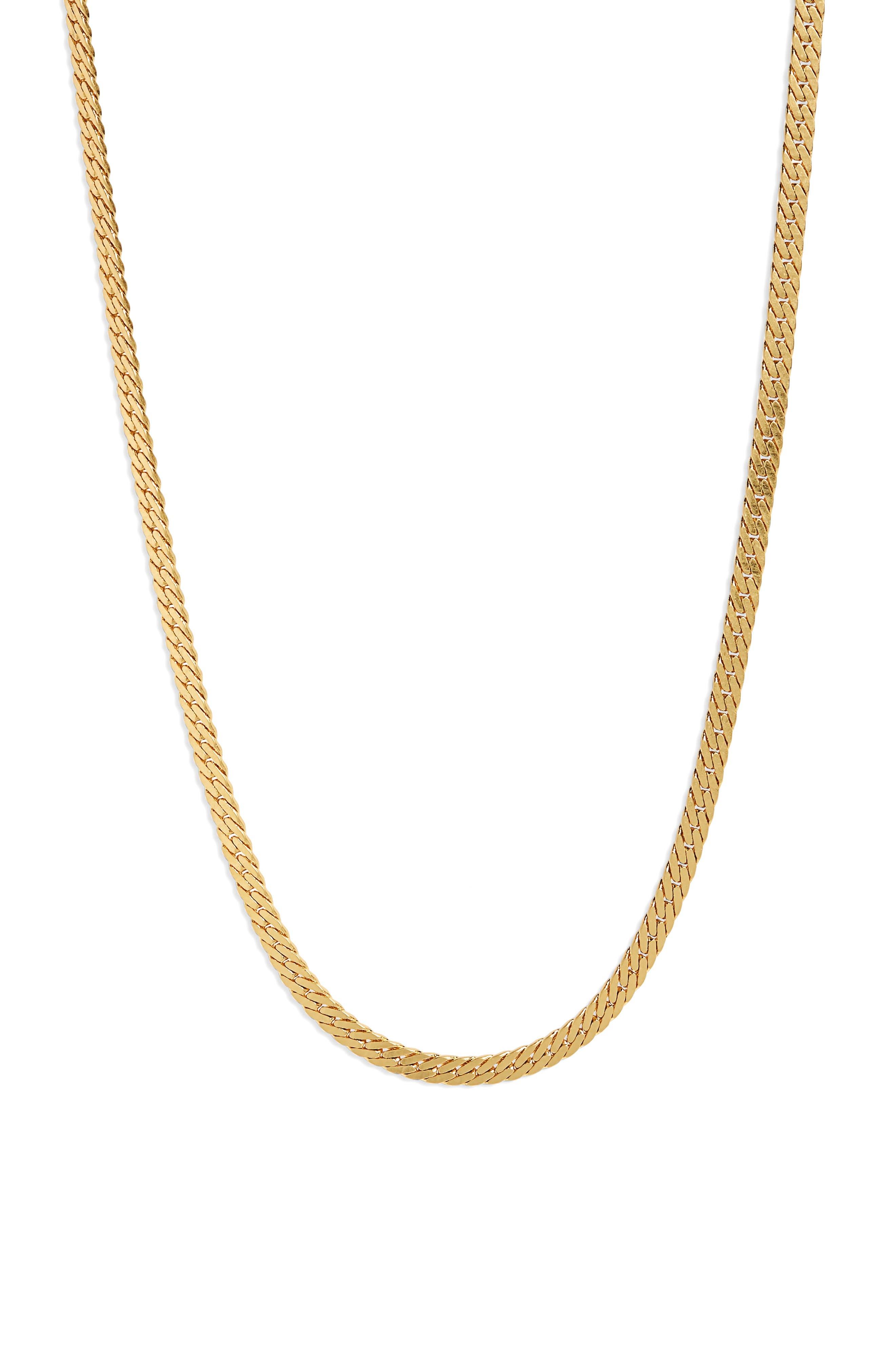 Simple Chain Necklace,                             Main thumbnail 1, color,                             VINTAGE GOLD