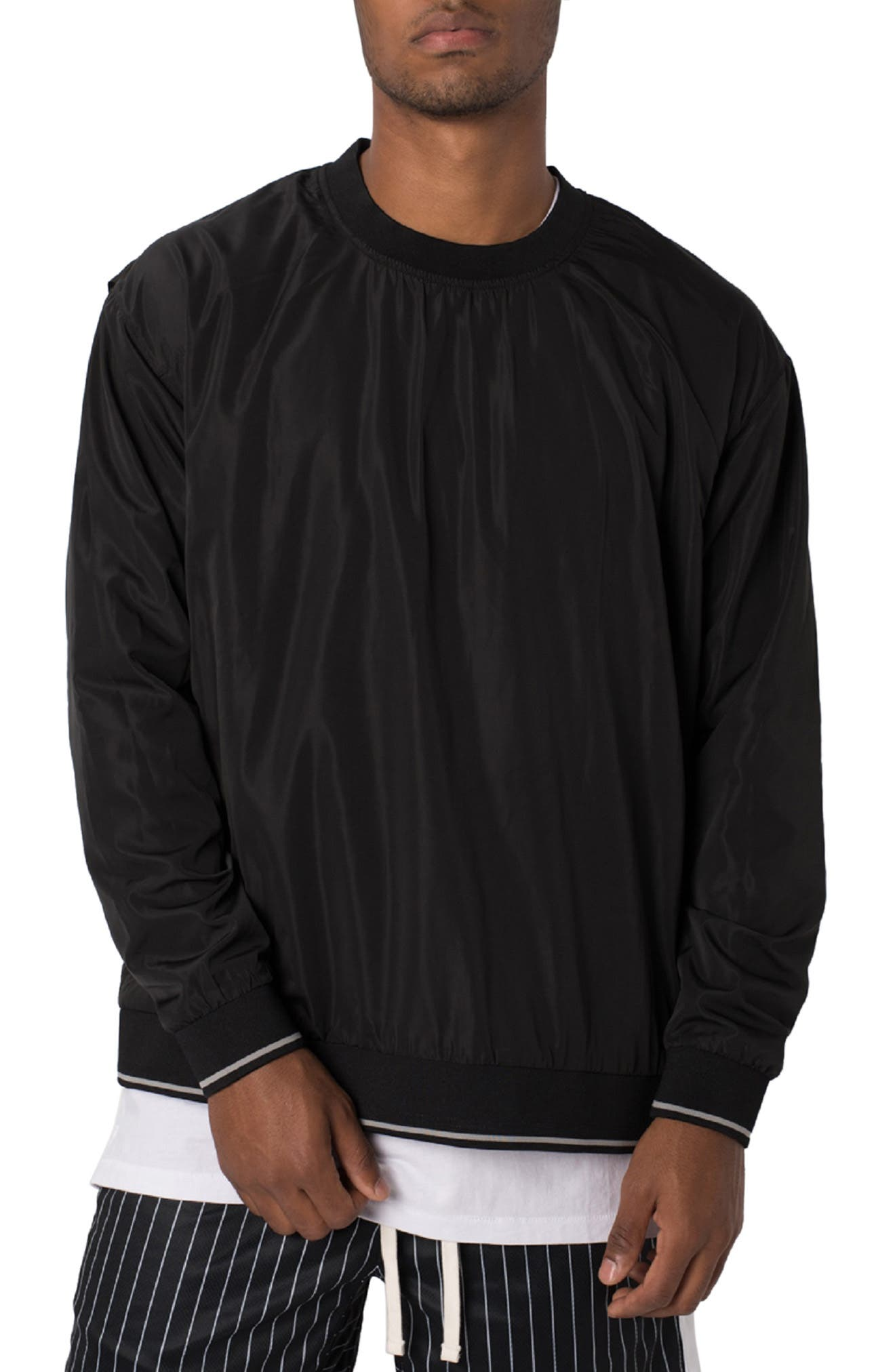 ZANEROBE Jumpa Oversize Crewneck Sweatshirt, Main, color, BLACK