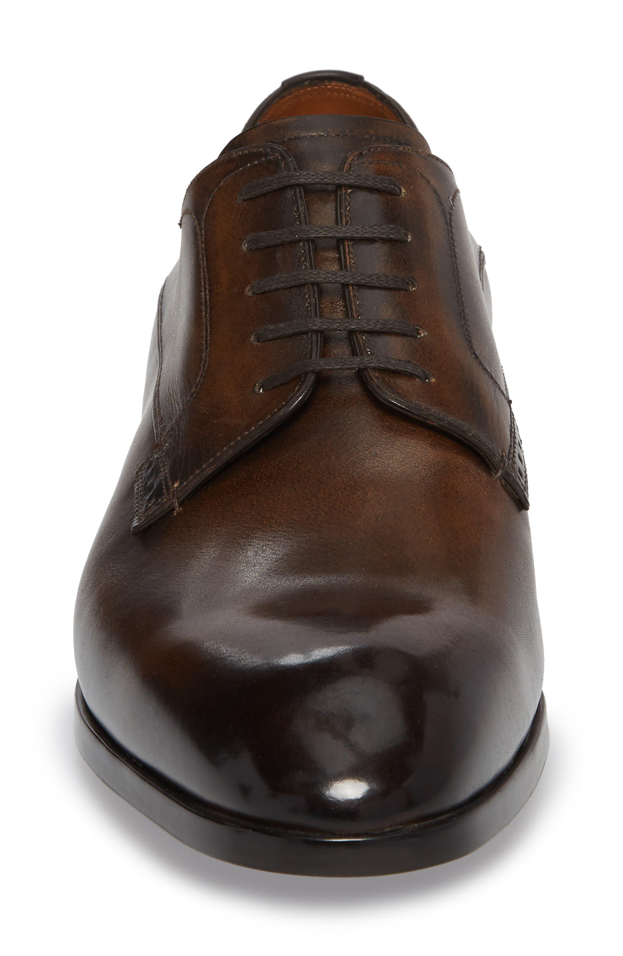 Lantel Plain Toe Derby,                             Alternate thumbnail 4, color,                             MID BROWN