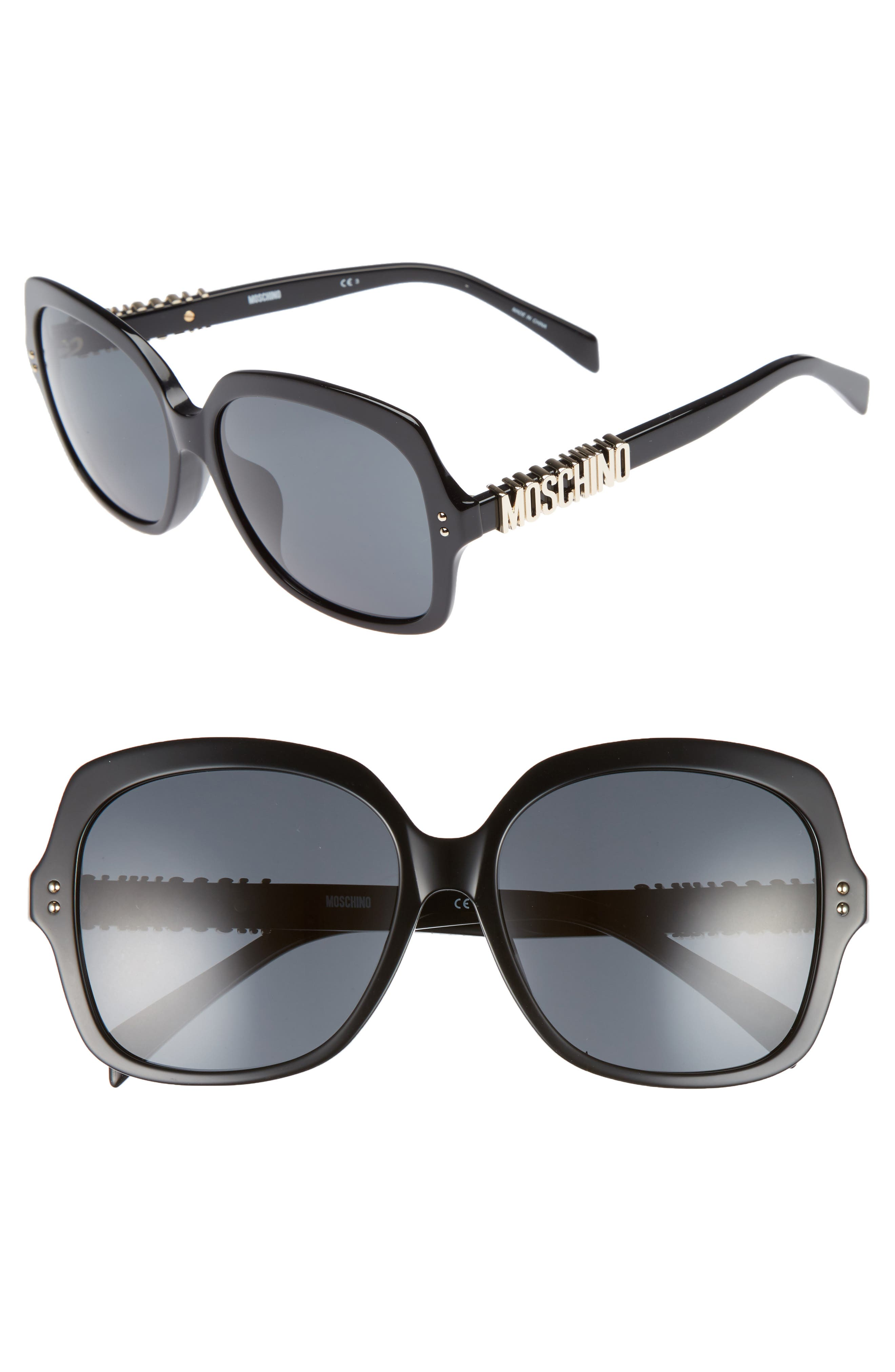 57mm Oversized Polarized Sunglasses,                         Main,                         color,