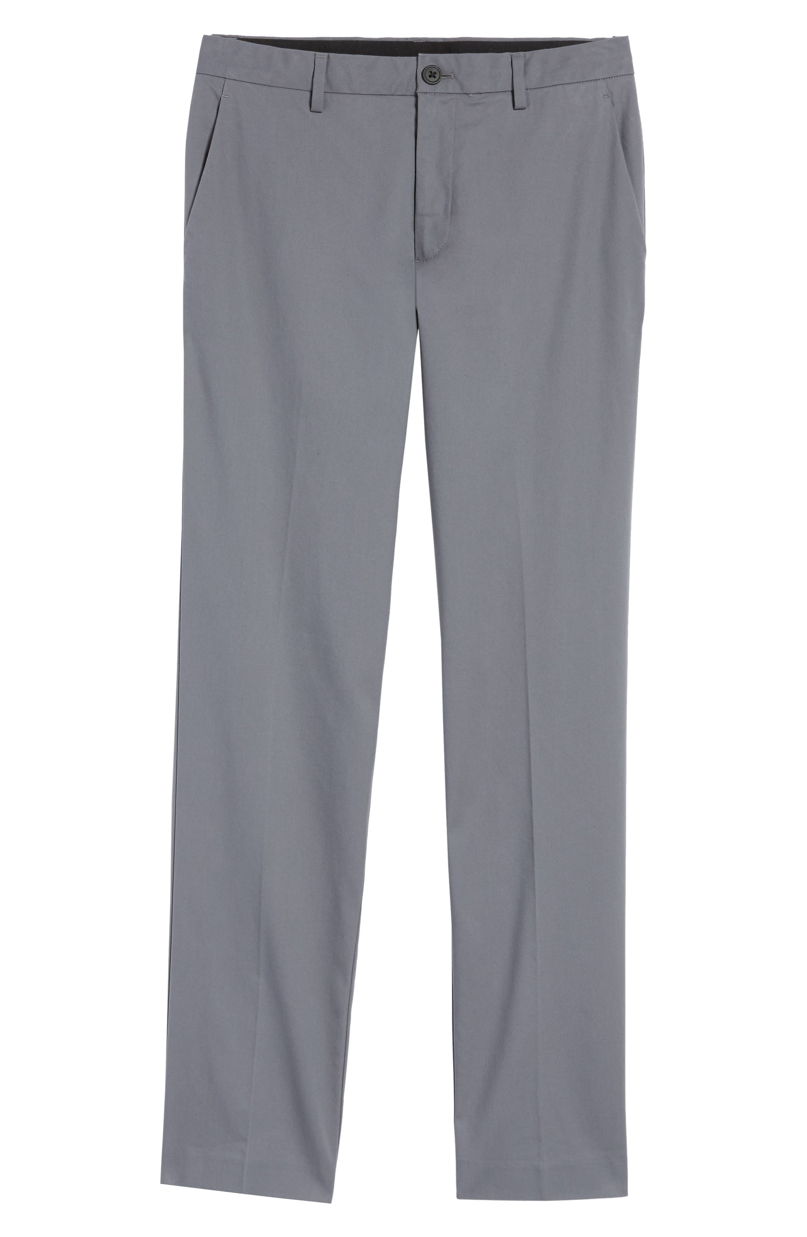 Slim Fit Tech Chinos,                             Alternate thumbnail 6, color,                             THUNDERCLOUD