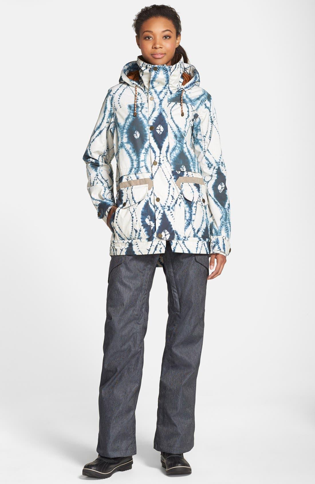 'Fremont' Tie Dye Waterproof Jacket,                             Alternate thumbnail 4, color,                             921