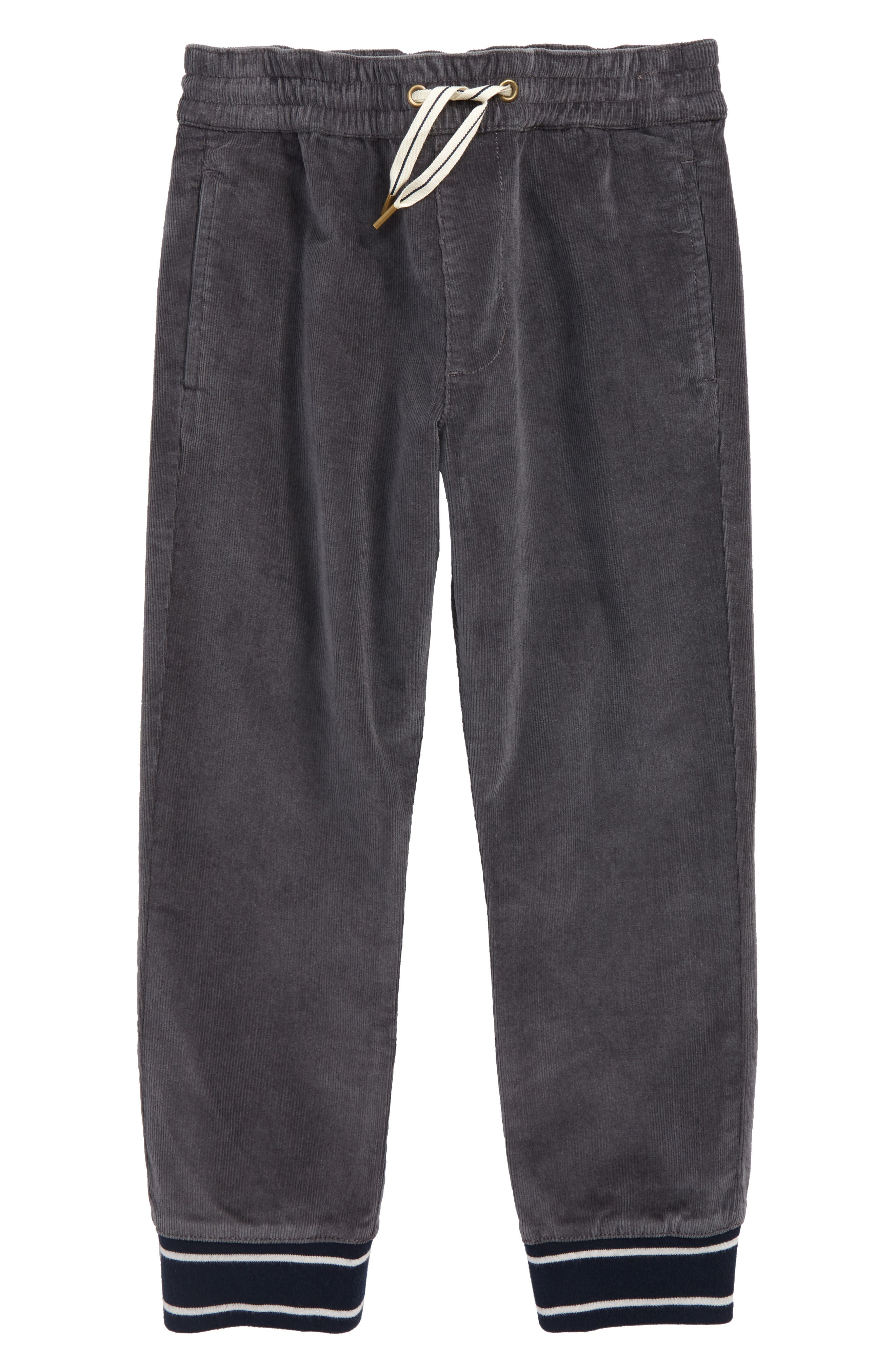 Corduroy Pull-On Pants,                         Main,                         color, COAL GREY