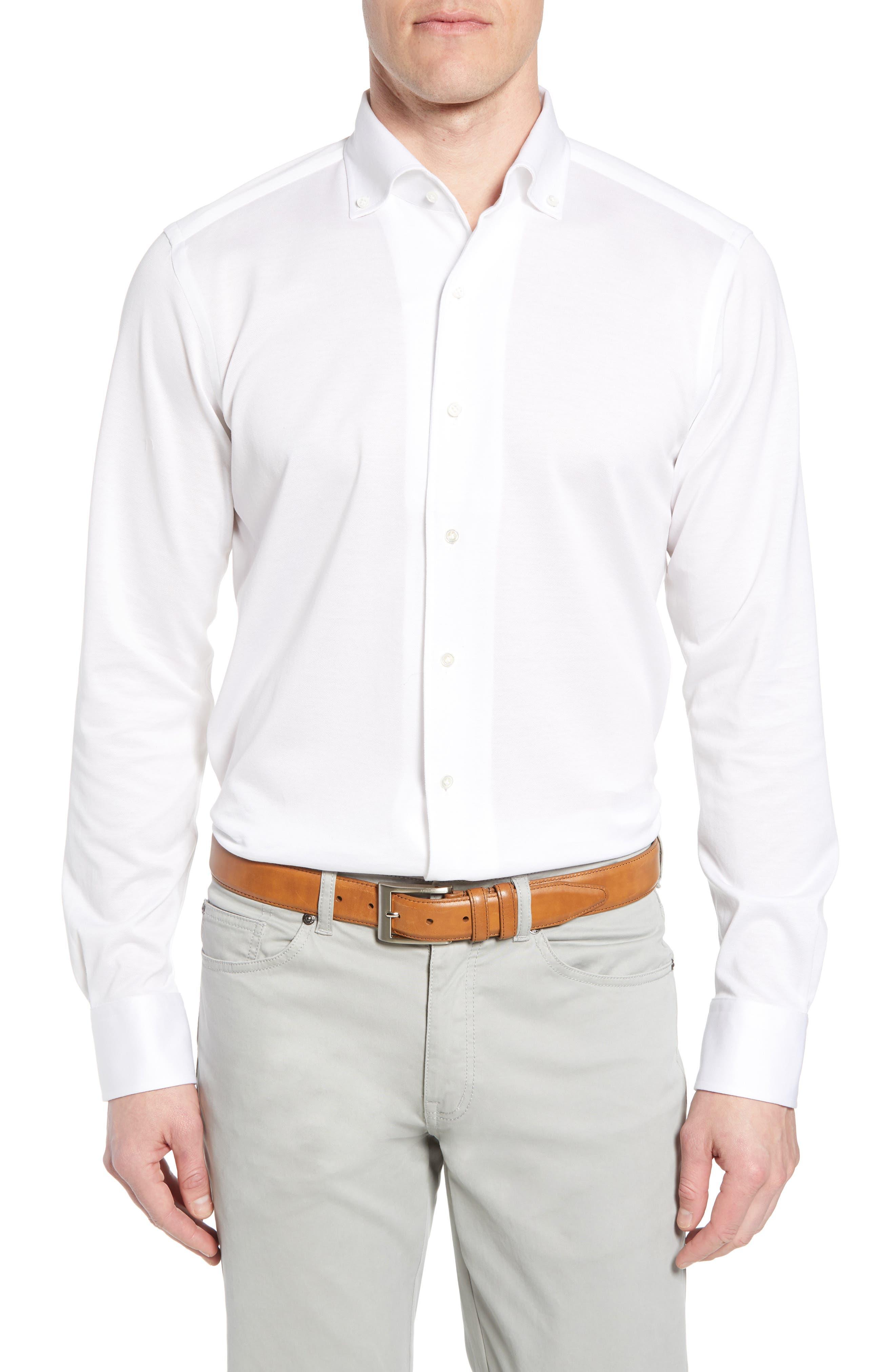 Summer Mesh Jersey Sport Shirt,                         Main,                         color, 100