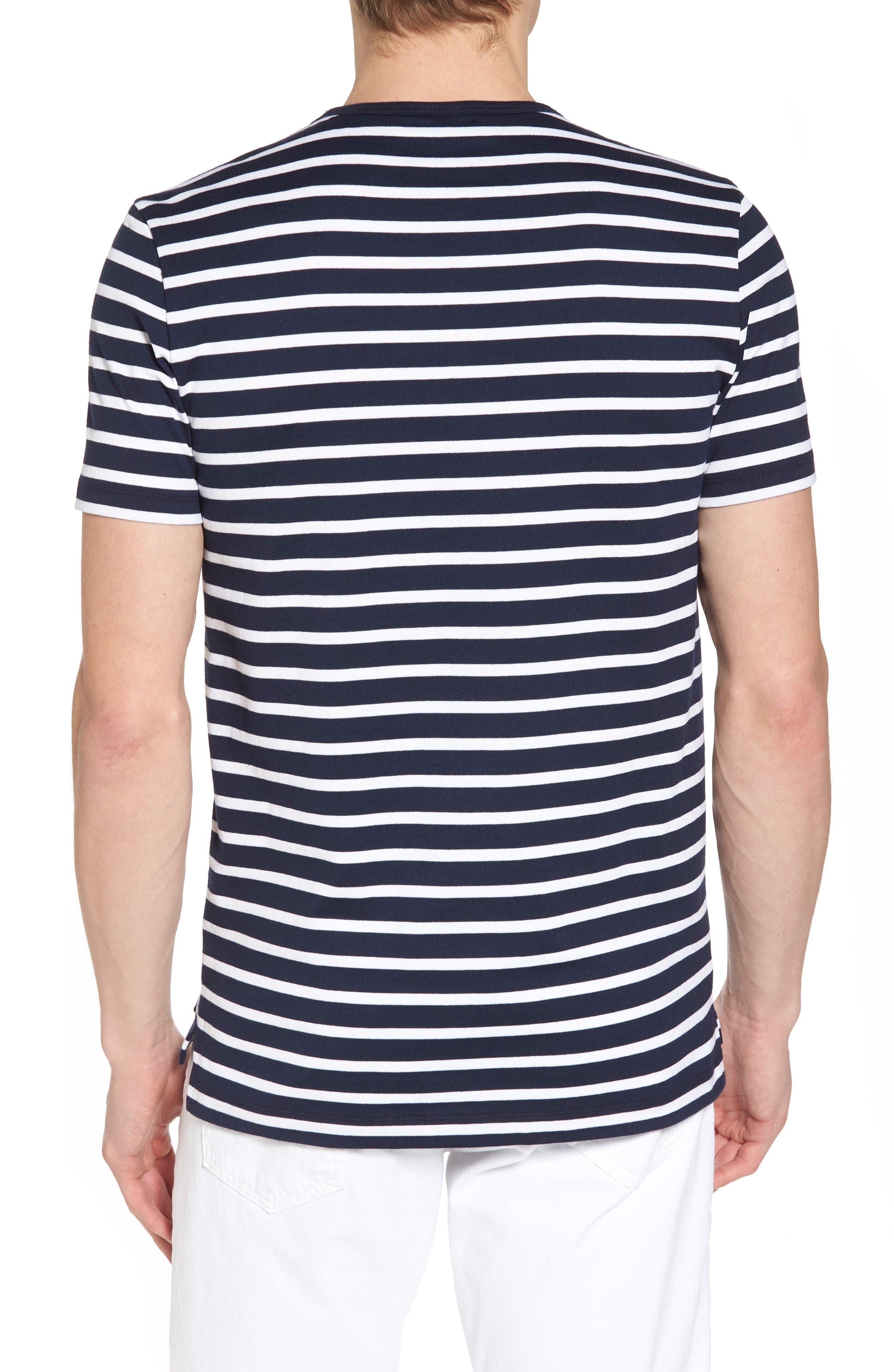 Tessler Stripe Crewneck T-Shirt,                             Alternate thumbnail 2, color,                             410