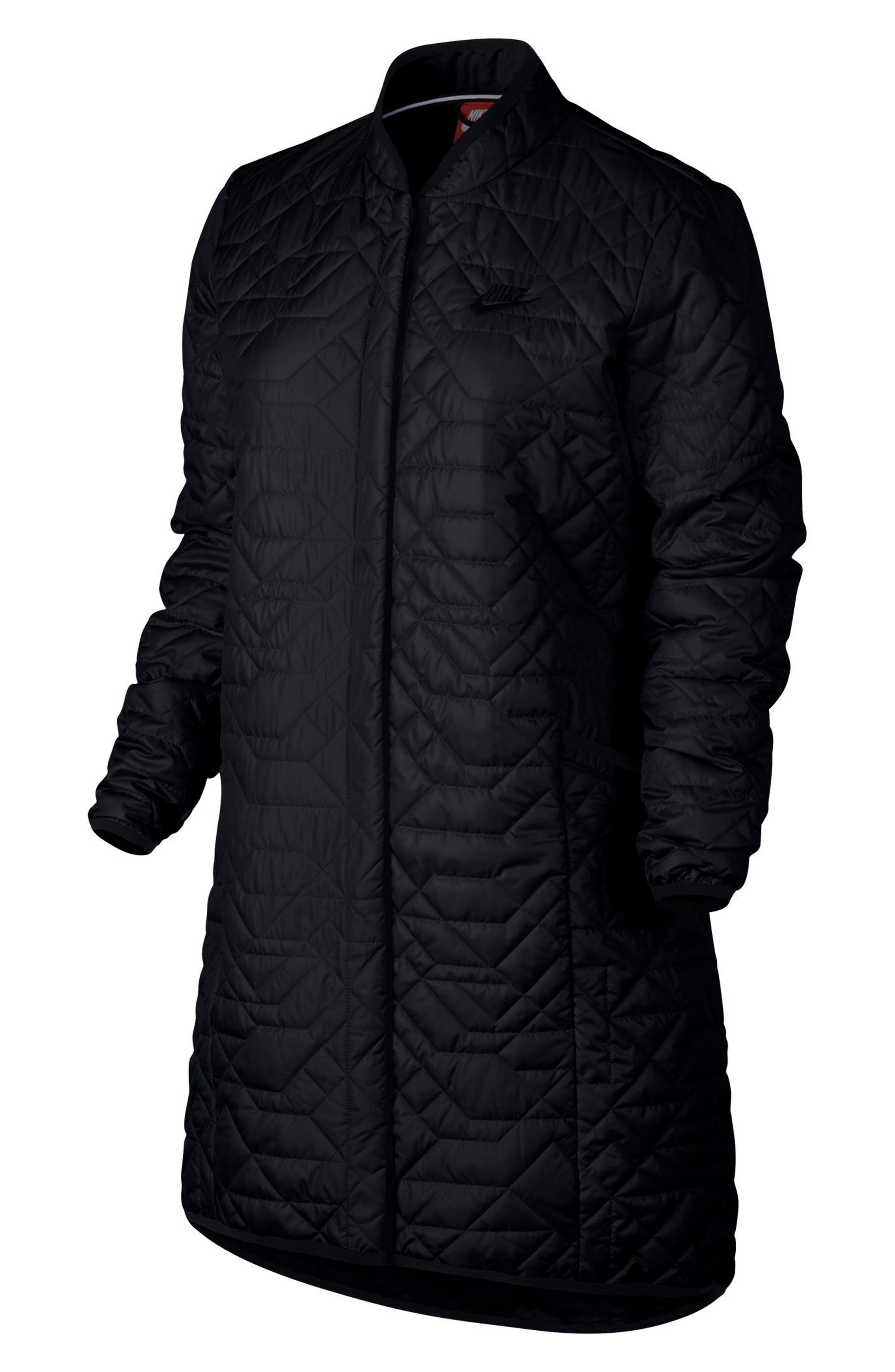 Sportswear Quilted Women's Parka,                             Alternate thumbnail 5, color,                             010