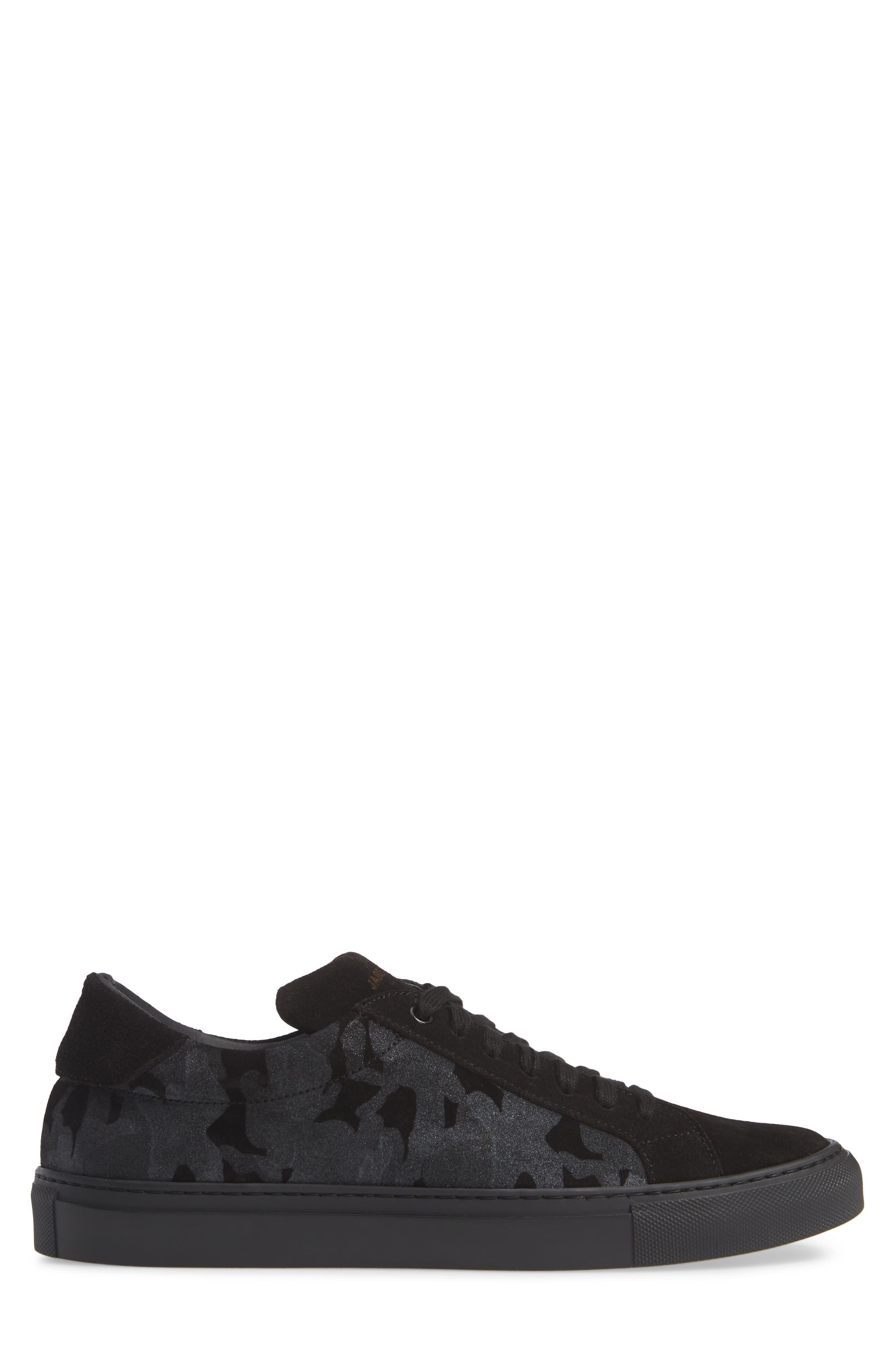 Rome Sneaker,                             Alternate thumbnail 3, color,                             BLACK