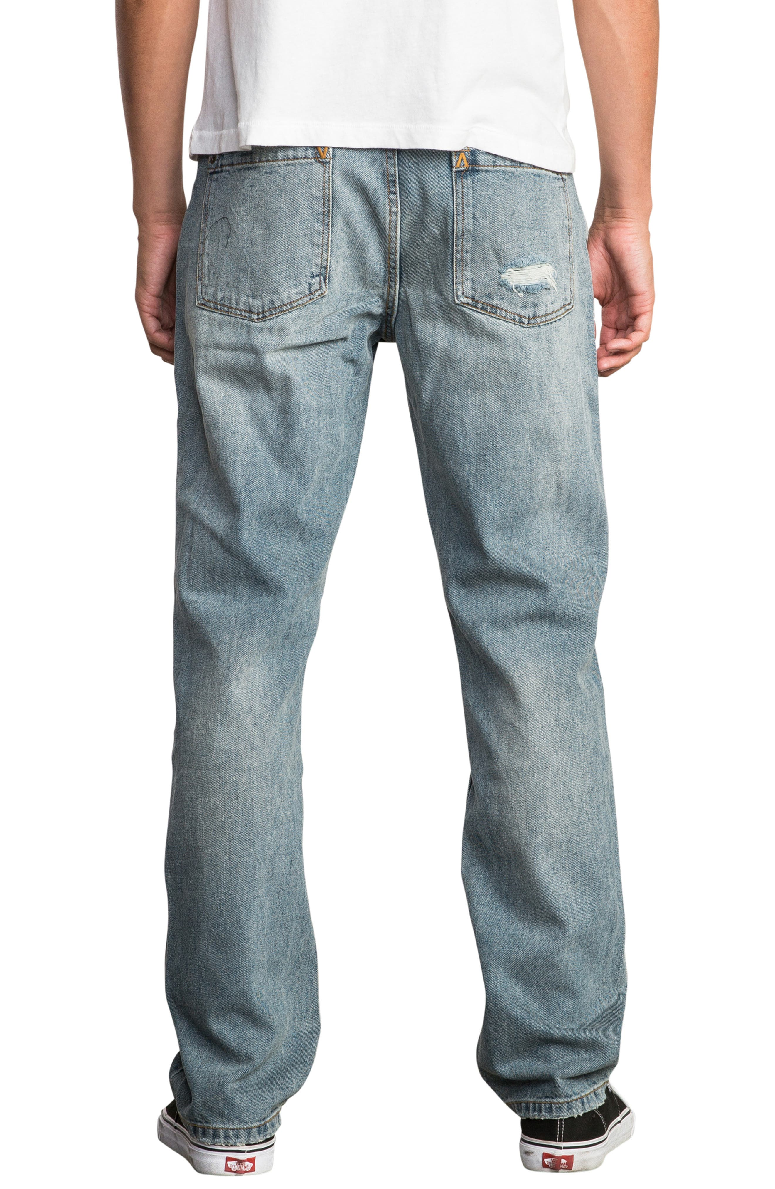 Stay RVCA Slim Fit Jeans,                             Alternate thumbnail 2, color,                             WORN BLUE