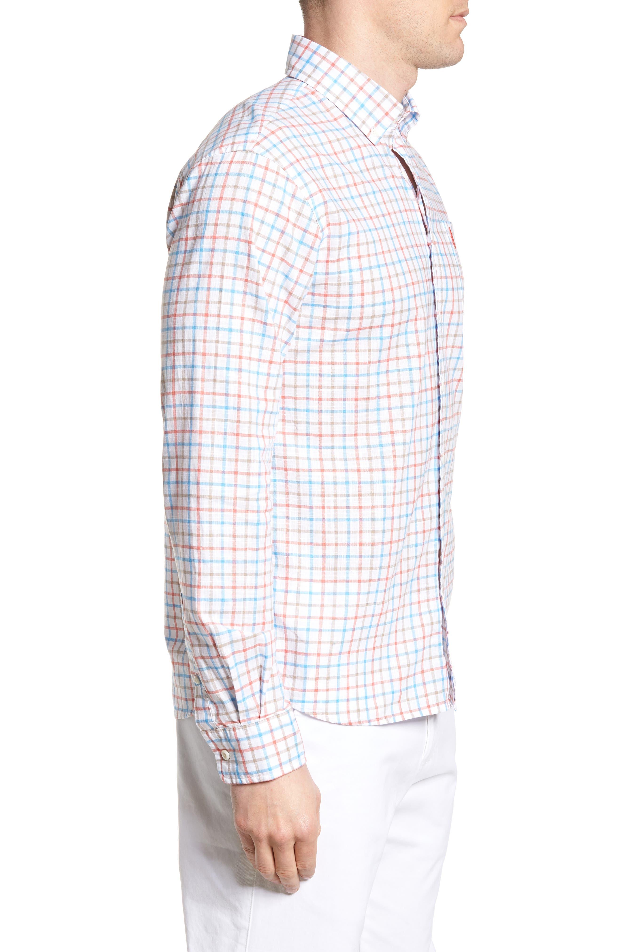 Grayson Regular Fit Sport Shirt,                             Alternate thumbnail 3, color,