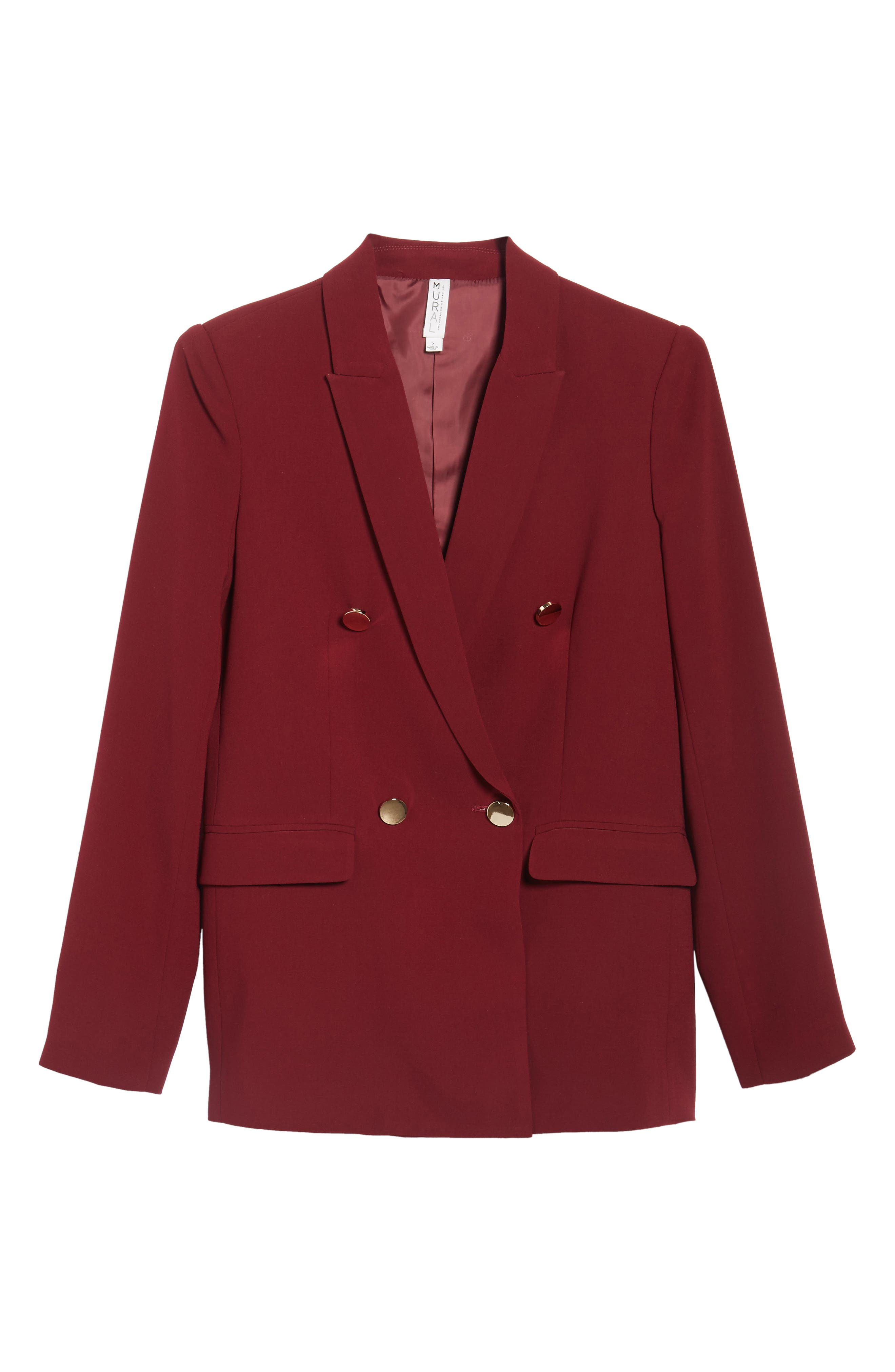 Oversize Double Breasted Blazer,                             Alternate thumbnail 10, color,