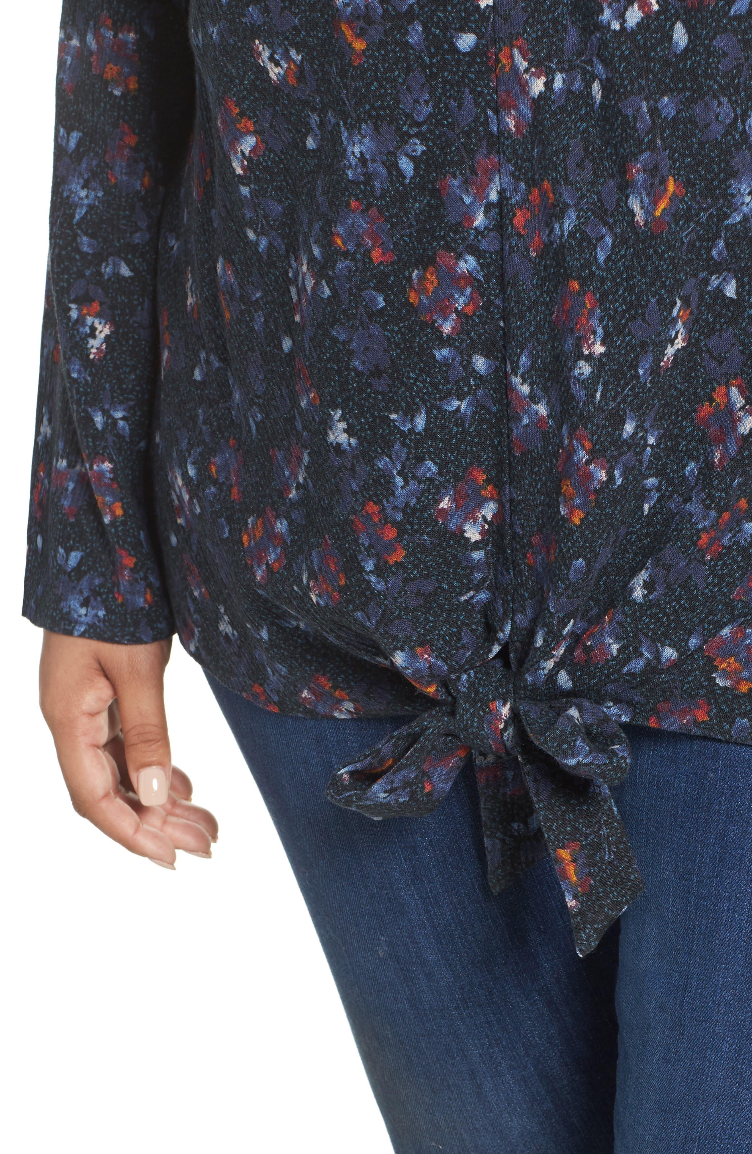 Knot Front Shirt,                             Alternate thumbnail 4, color,                             401