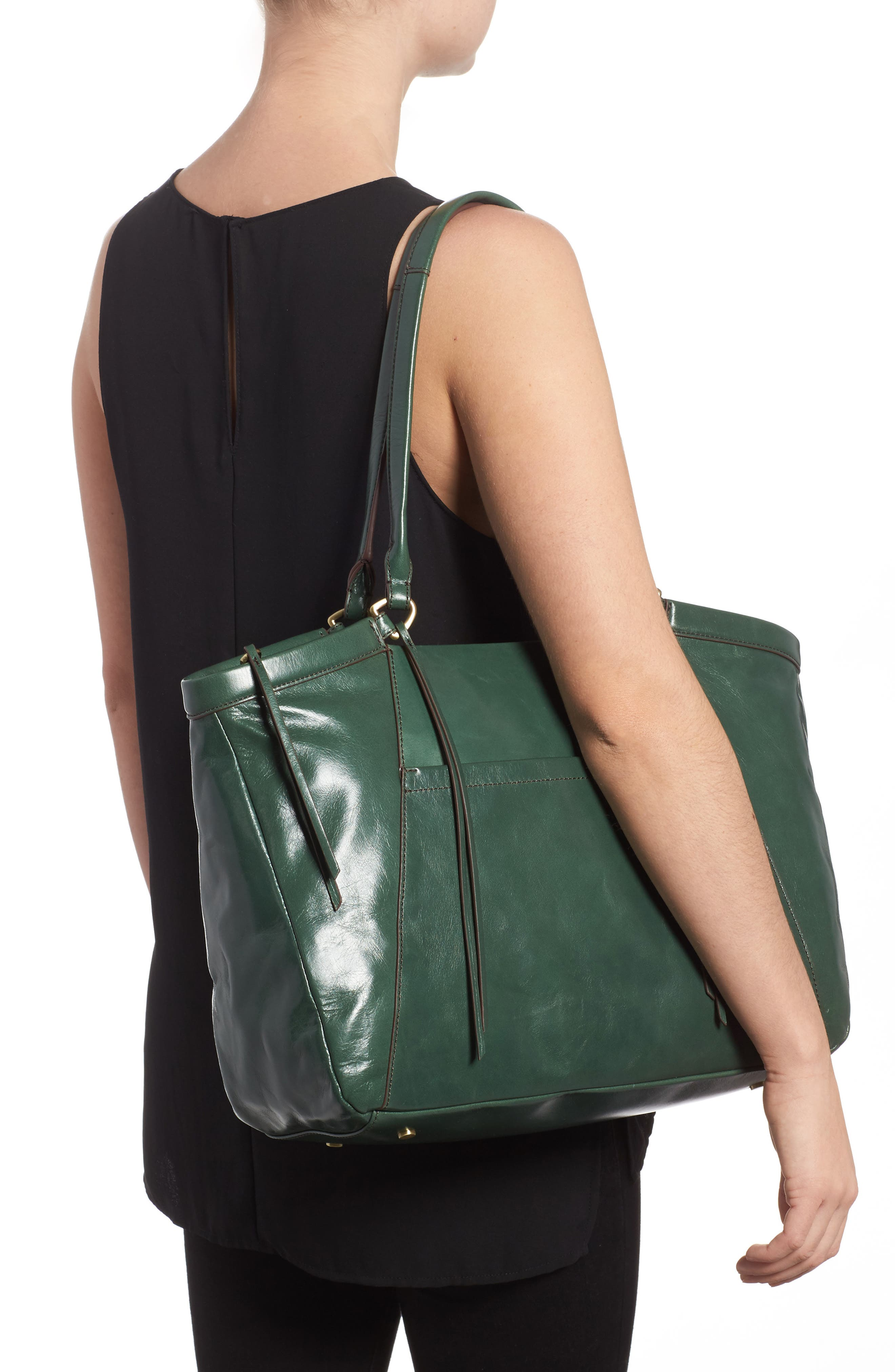 Maryanna Leather Tote,                             Alternate thumbnail 8, color,