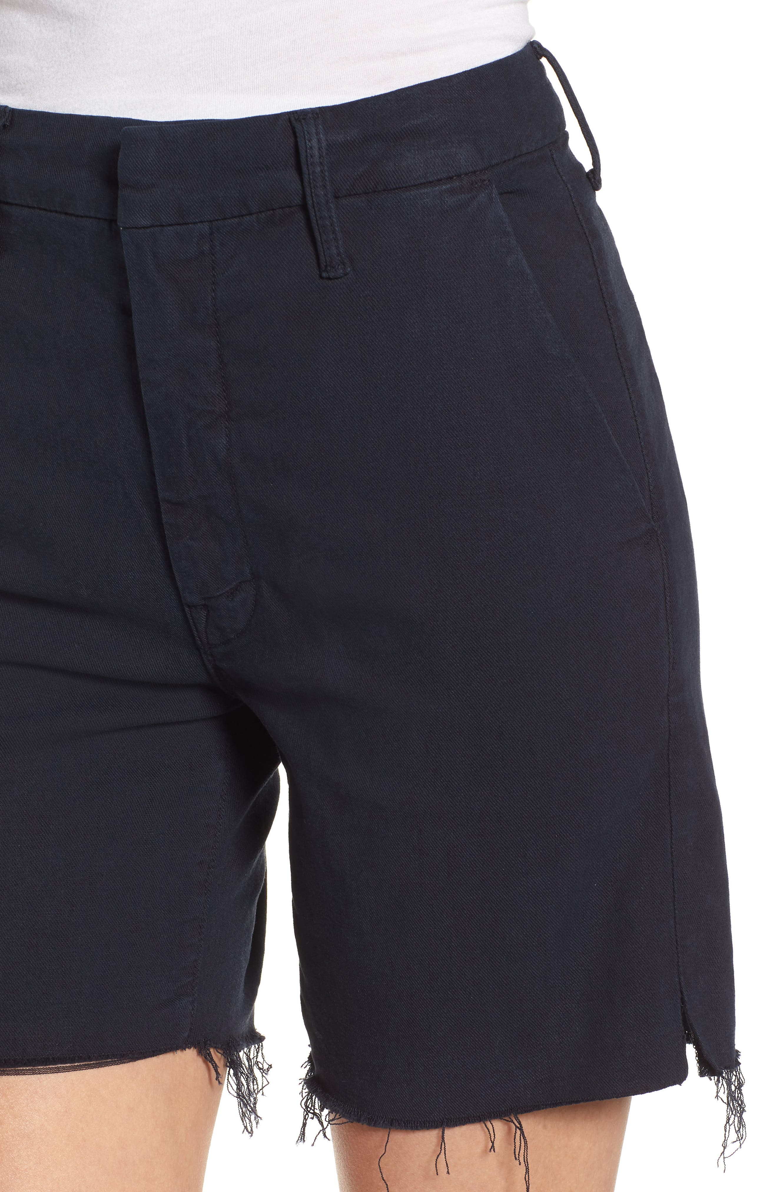 The Bermuda Prep Snippet Fray Twill Shorts,                             Alternate thumbnail 4, color,                             415