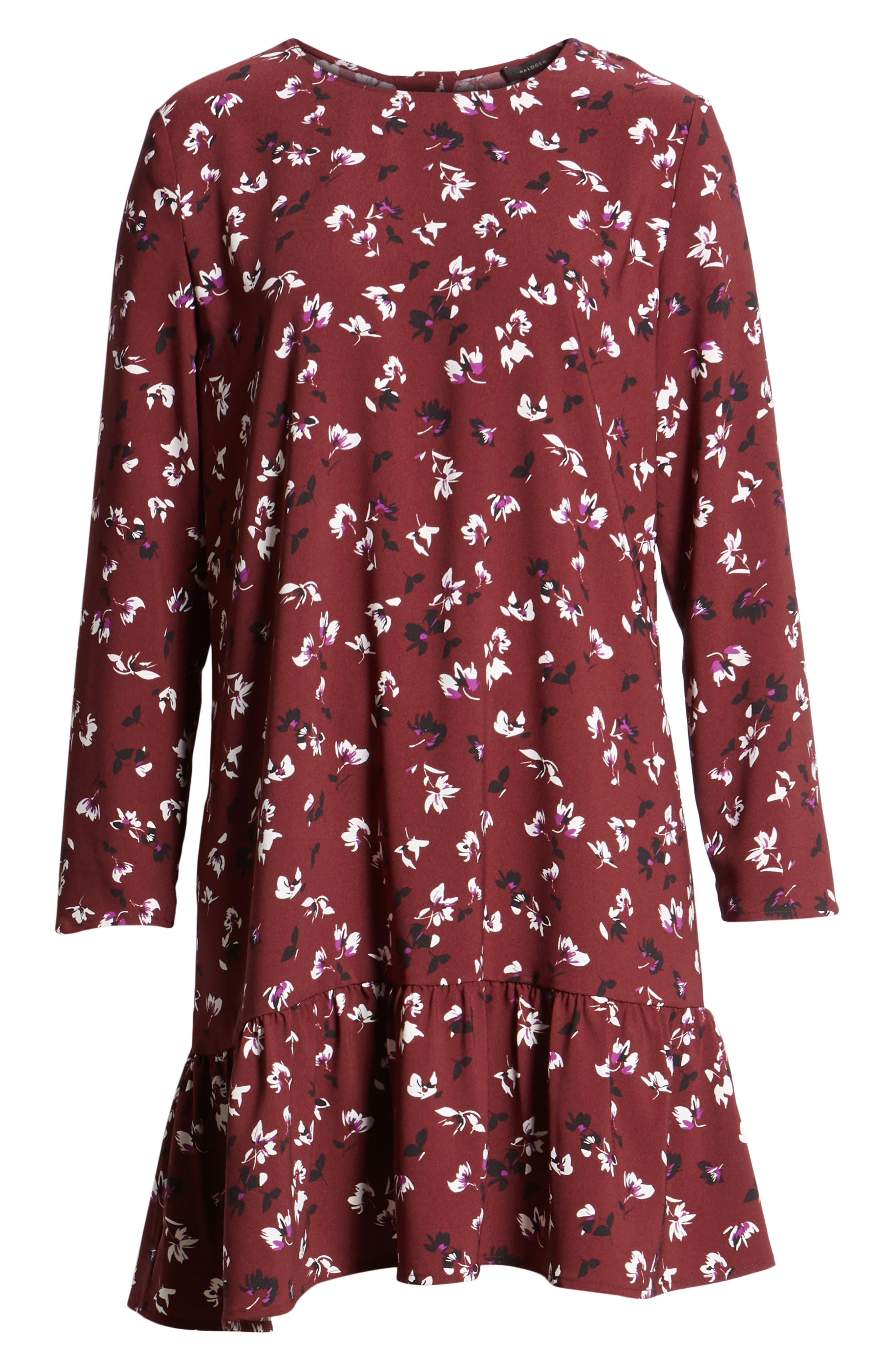 Button Back Ruffle Hem Dress,                             Alternate thumbnail 58, color,