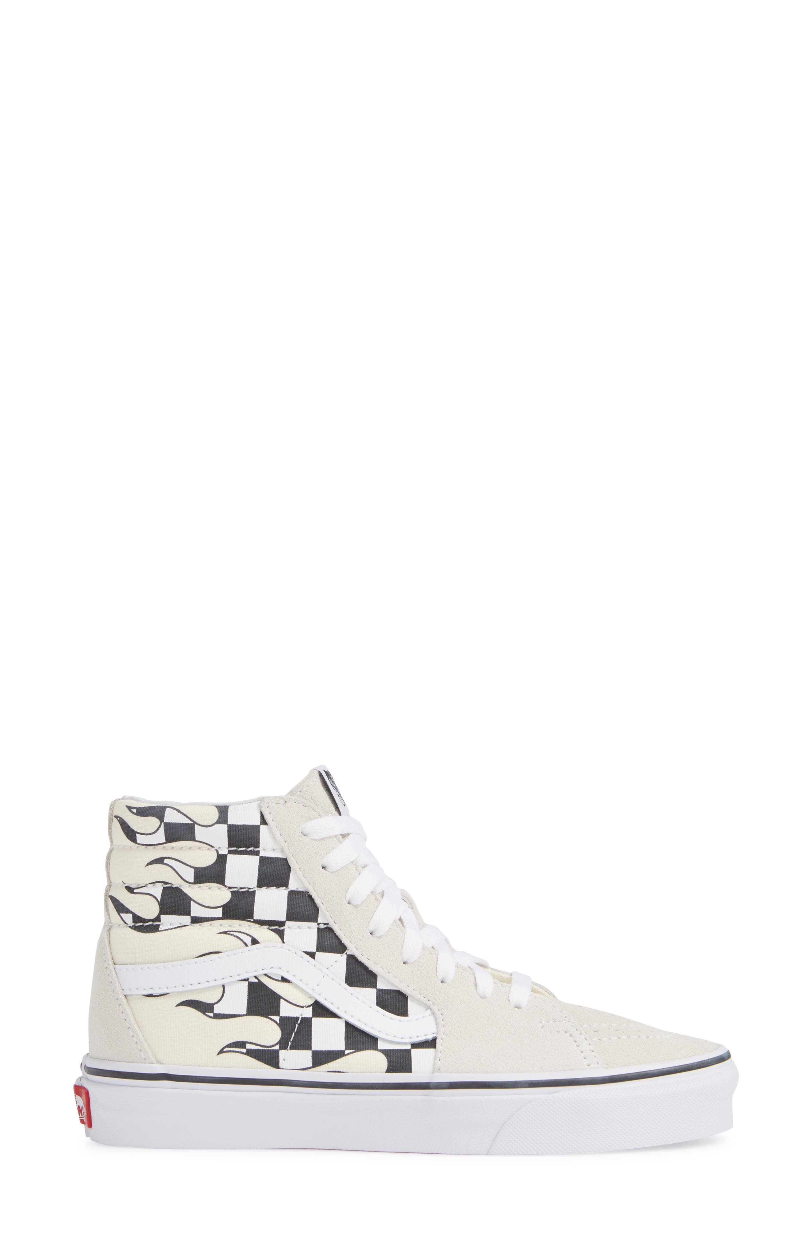 Sk8-Hi Checker Sneaker,                             Alternate thumbnail 3, color,                             CLASSIC WHITE/ TRUE WHITE