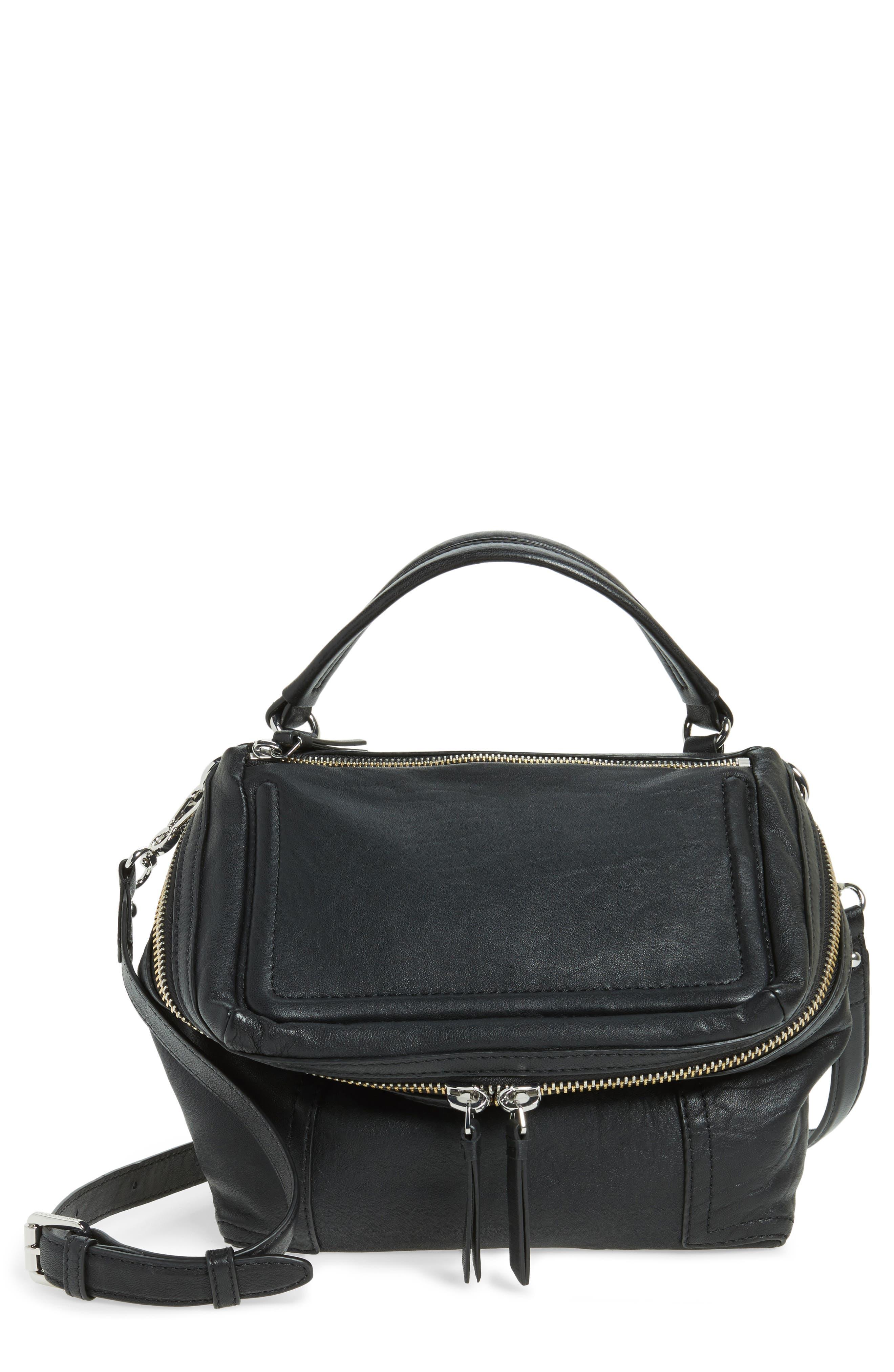 Medium Patch Leather Crossbody Bag,                             Main thumbnail 1, color,                             002